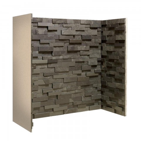 Gallery Staggered Black Slate Block Chamber