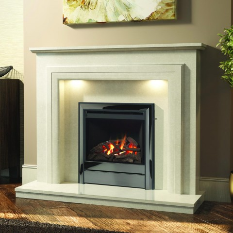 "Elgin & Hall Susannah 50"" Manila Micro Marble Surround"