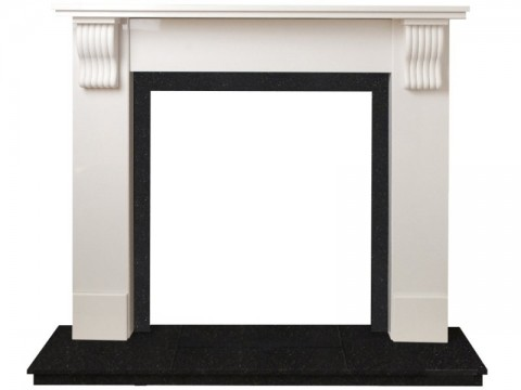 Fireplaces 4 Life Tewkesbury 48'' White Marble Stove Fireplace