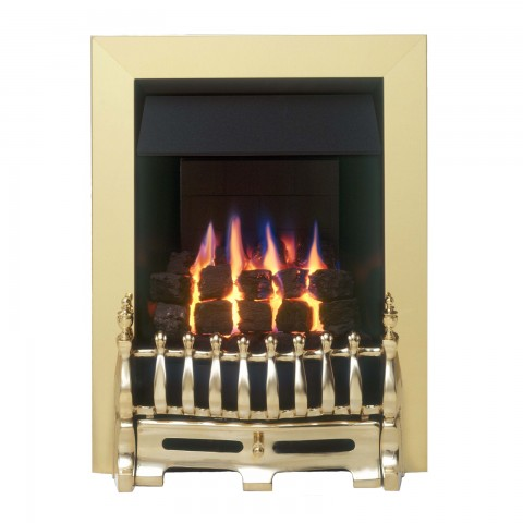 Valor Blenheim Slimline Brass Gas Fire