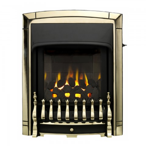 Valor Dream Slimline Homeflame Gold Plated Gas Fire