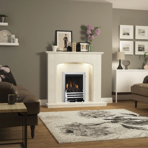 """Be Modern Viola 48"""" Fireplace Suite"""
