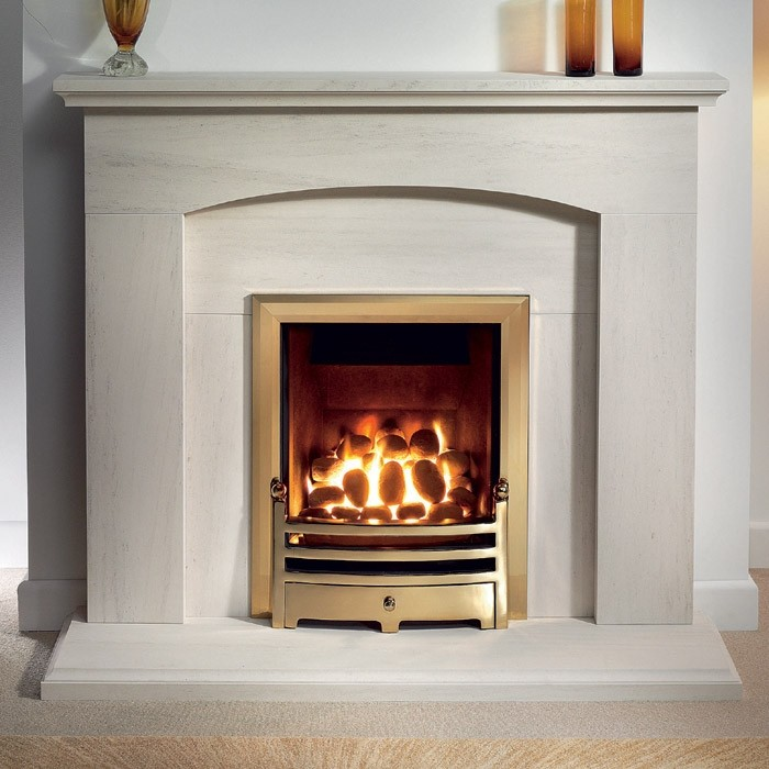 Gallery Cartmel 48 Portuguese Limestone Fireplace Suite The