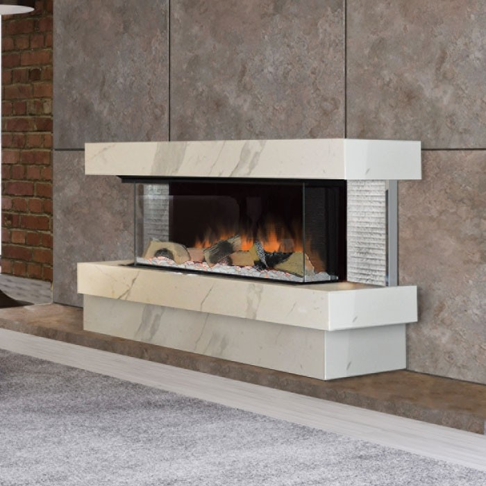 Evonic Kalmar Quartz Electric Fireplace, Quartz Electric Fireplace