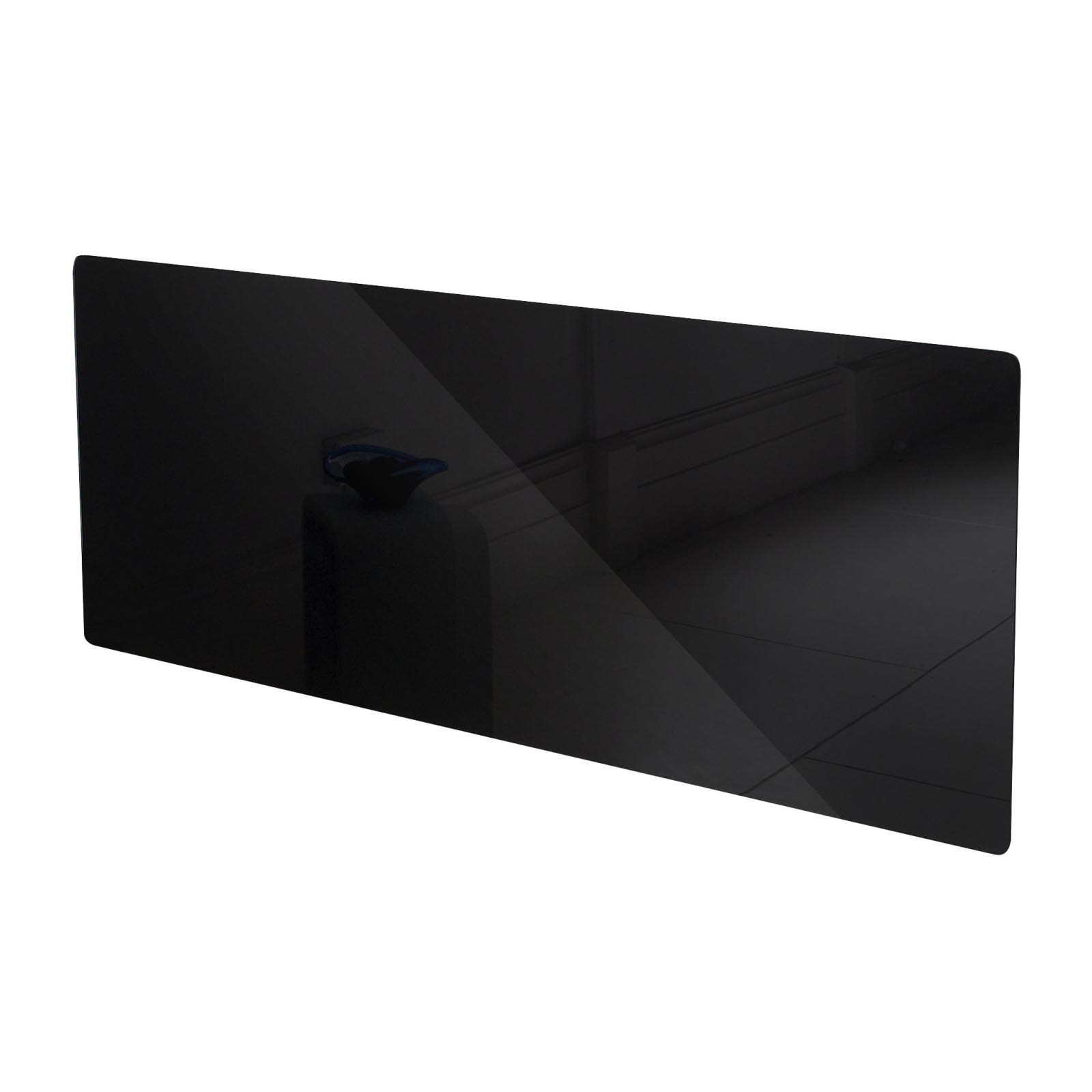 adam vitreo large black glass radiator cover - Black Glass