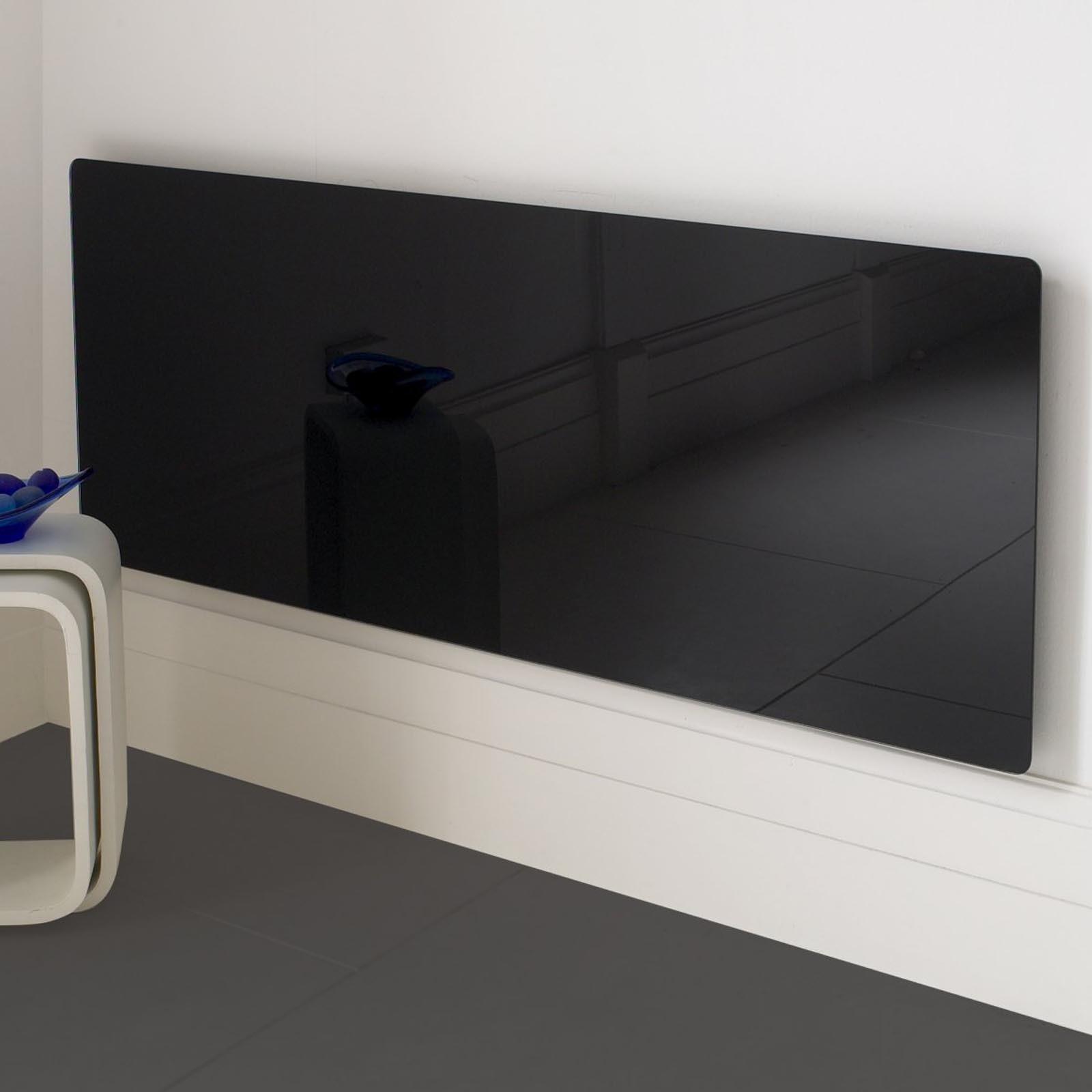Great Deals Adam Vitreo Large Black Glass Radiator Cover Free Uk Delivery