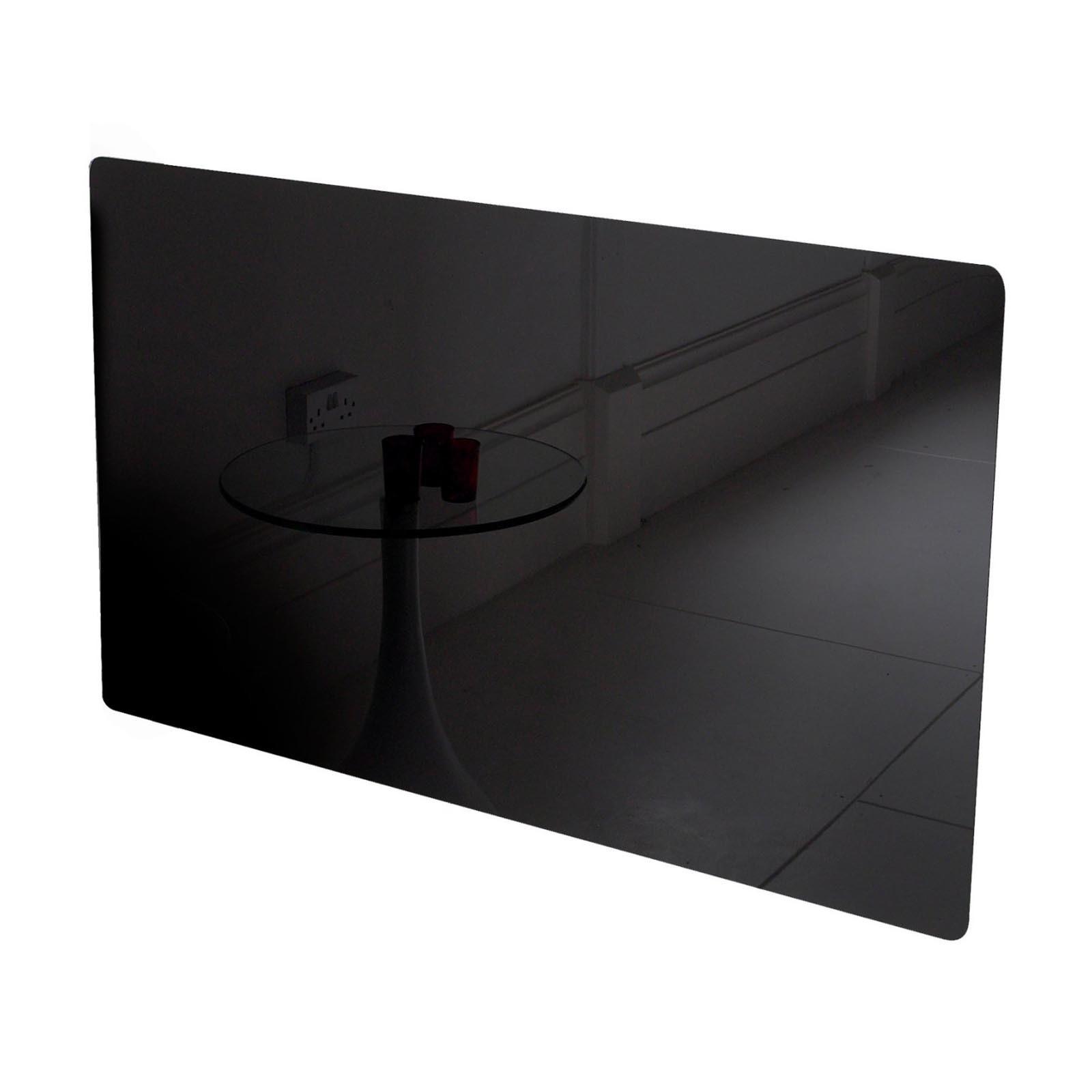 adam vitreo small black glass radiator cover - Black Glass