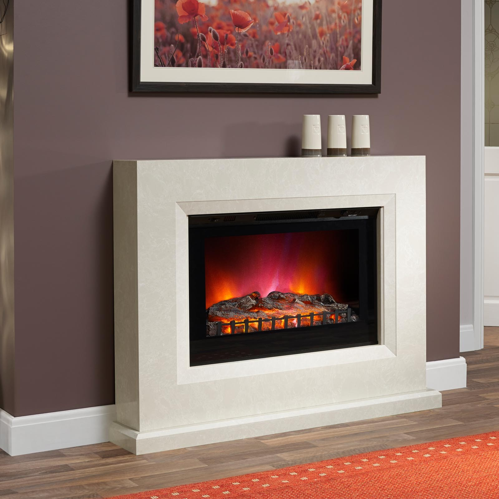 Modern Style Elgin Hall Albany 45 Electric Fireplace Suite
