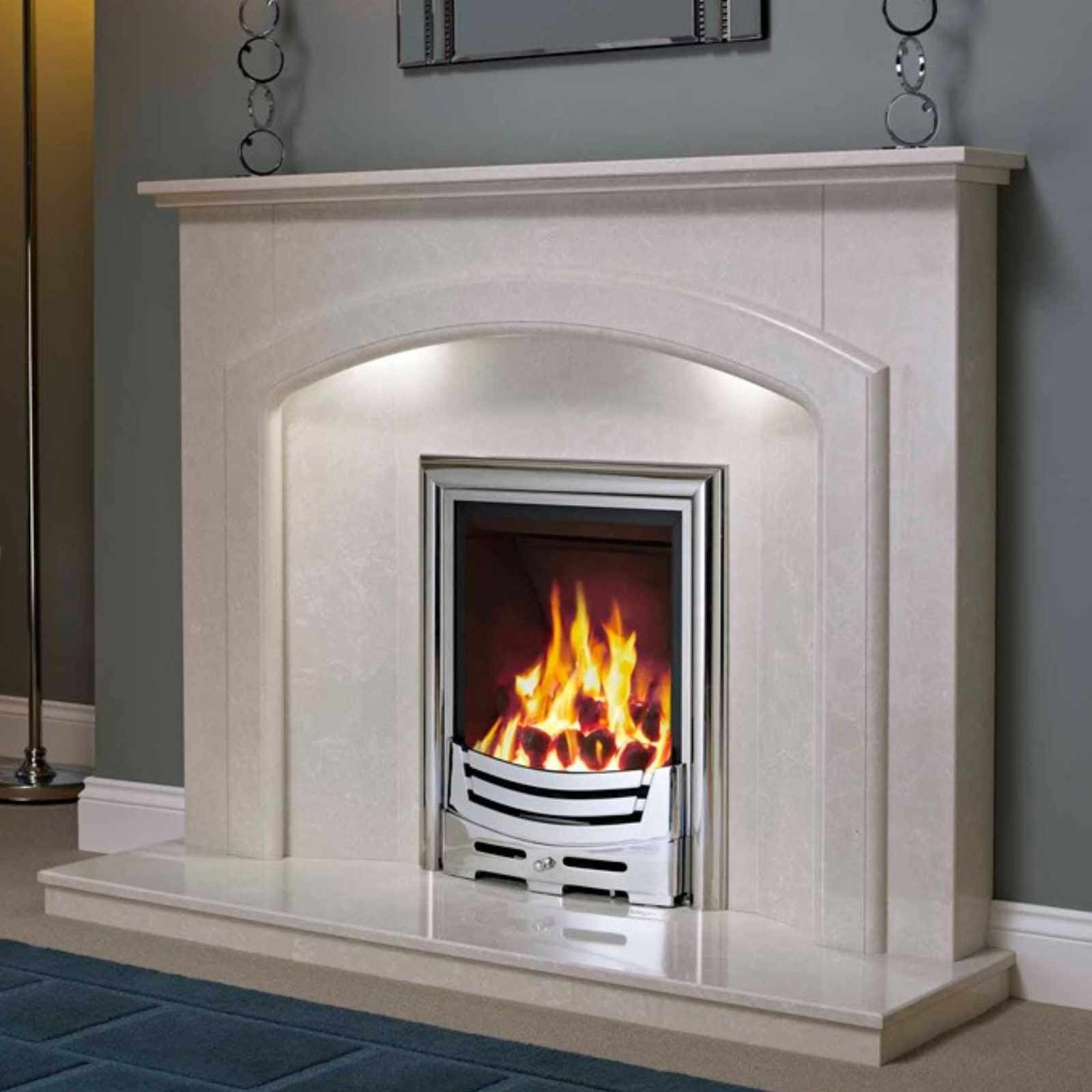 Luxury design be modern andorra 52 marble fireplace for Marble for fireplace surround