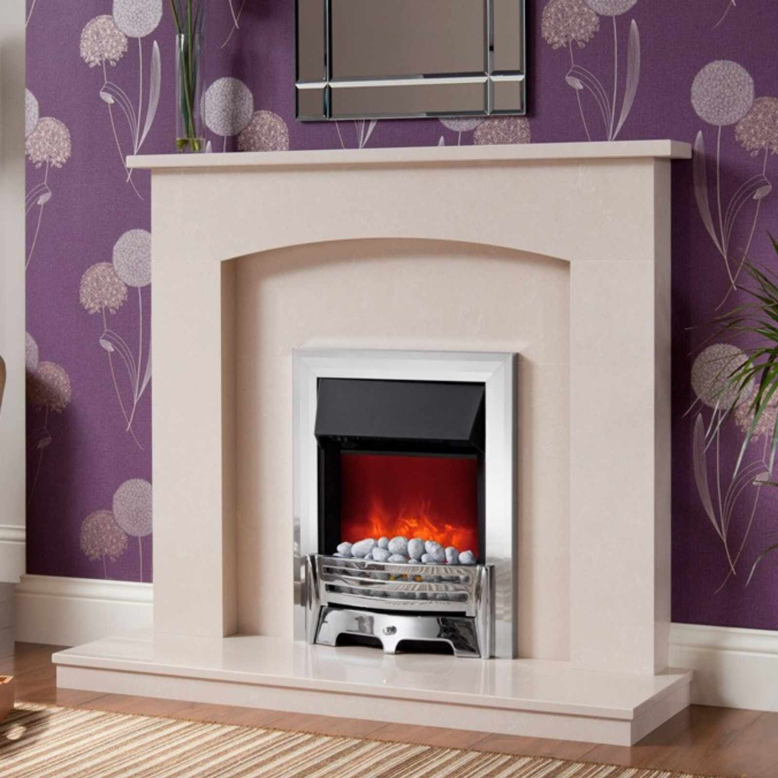 fast delivery be modern isabelle manila marble fireplace suite