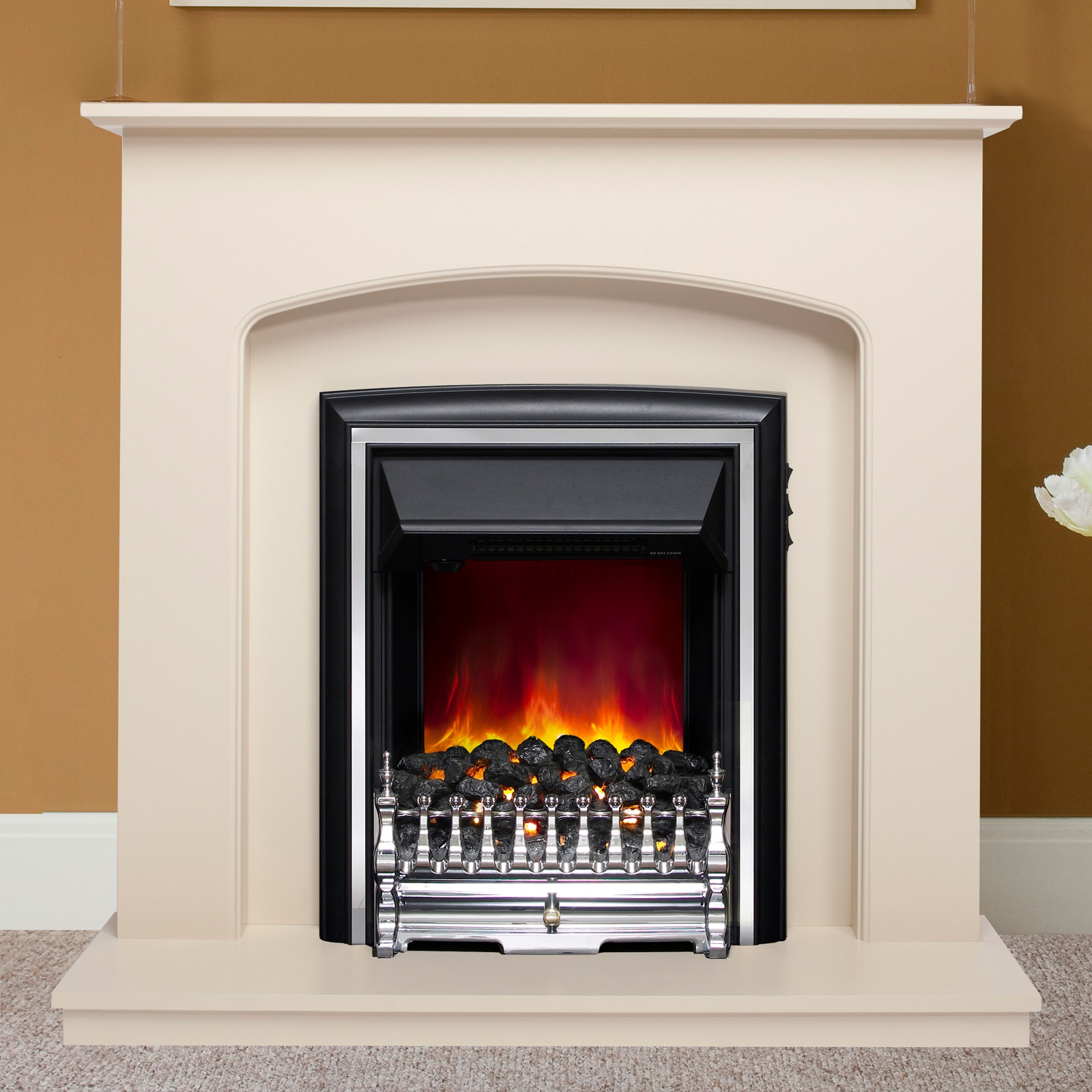 delicate finish be modern lusso electric 42 quot fireplace suite