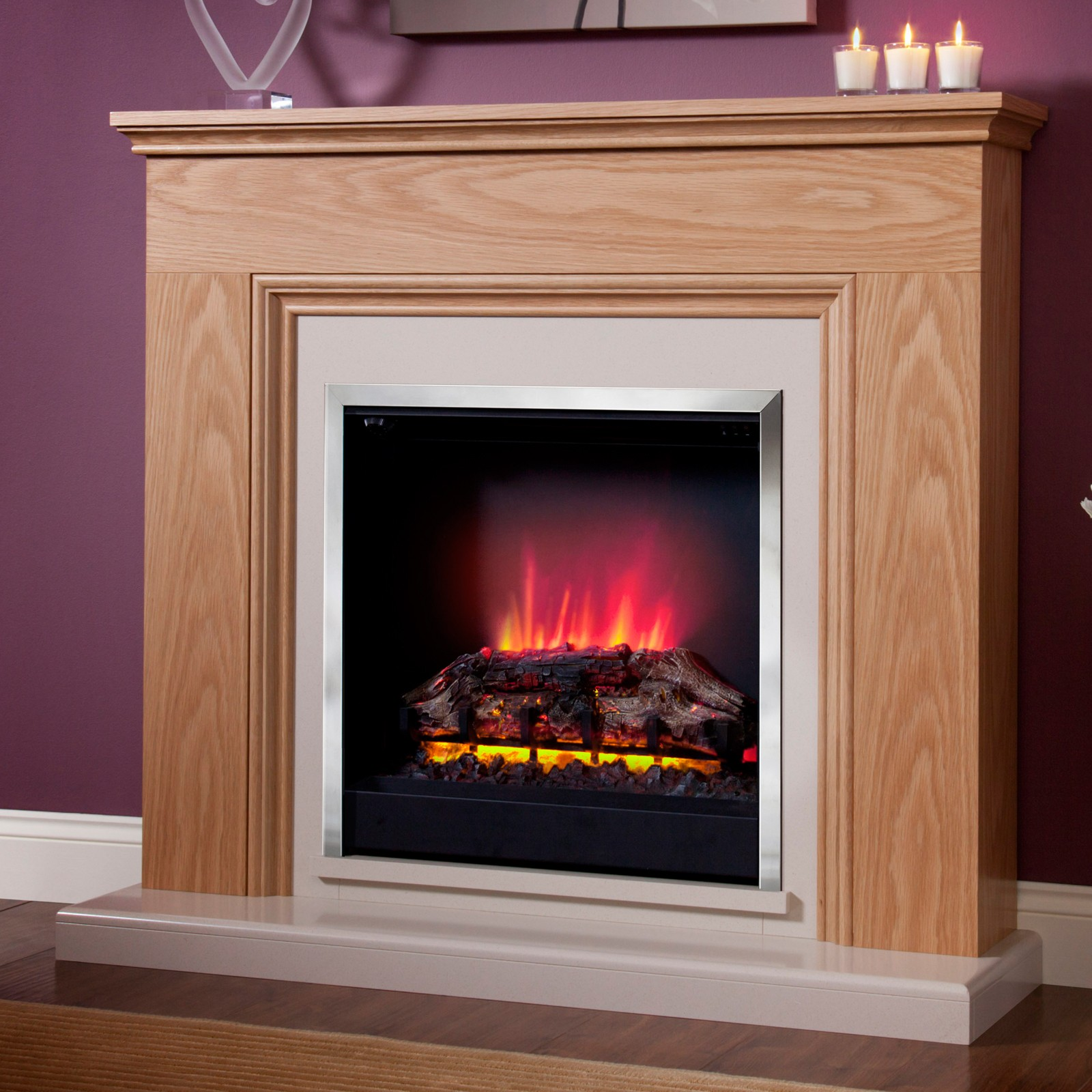 Be modern stanton electric fireplace suite affordable price for Modern gas fireplace price