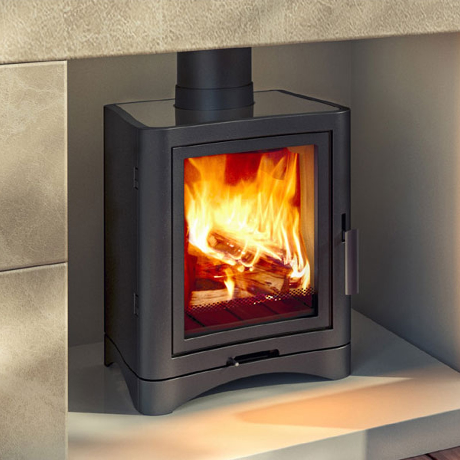 Electric Wood Stove ~ Dont miss out broseley evolution deluxe woodburning