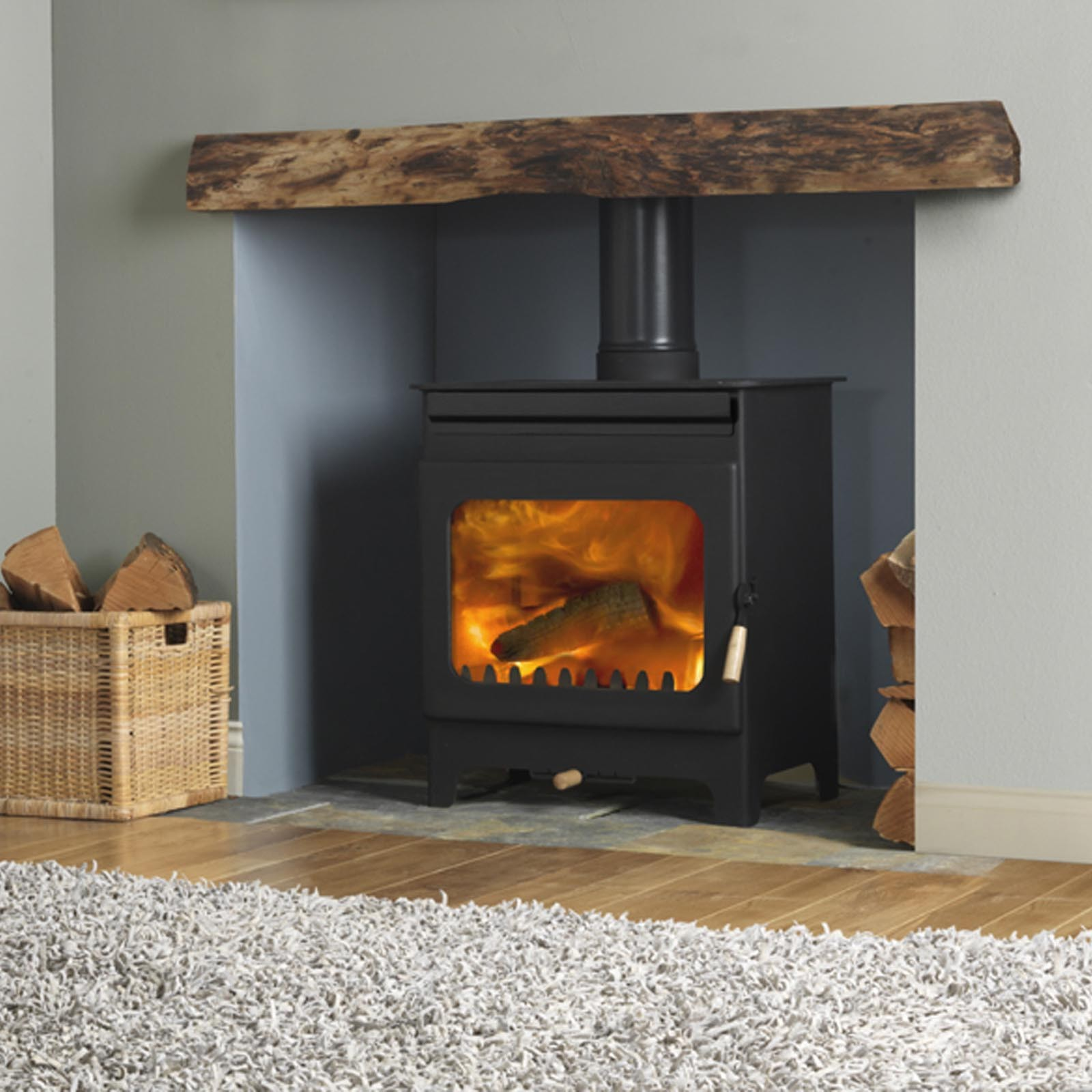 New Product Burley Fireball Brampton Wood Burning Stove