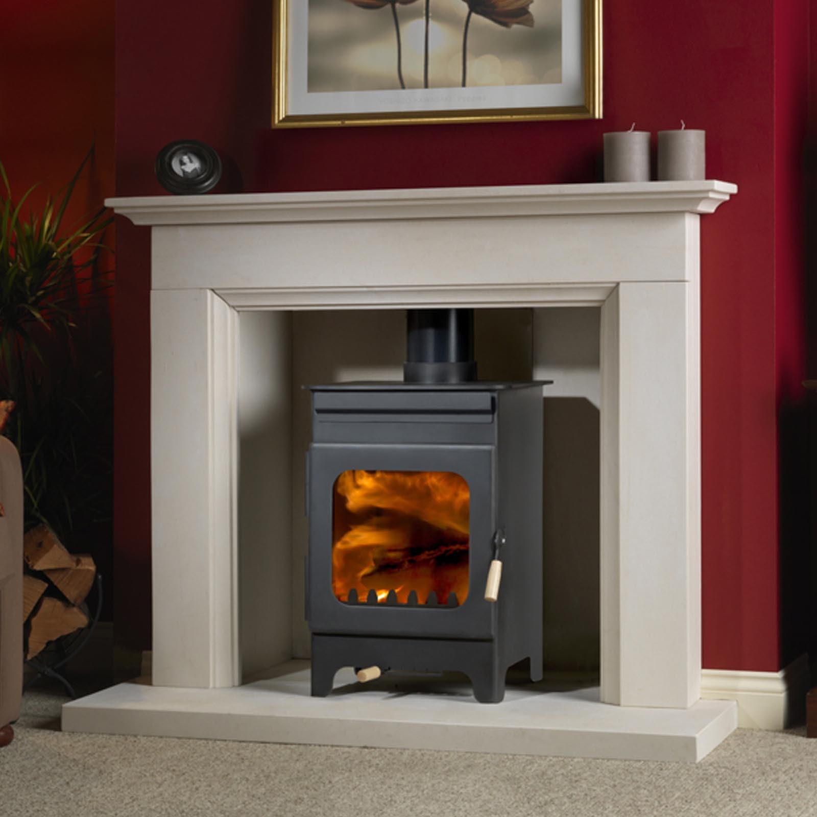 Amazing Instore Offers Burley Fireball Hollywell Wood Burning Stove Quick Free Shipping
