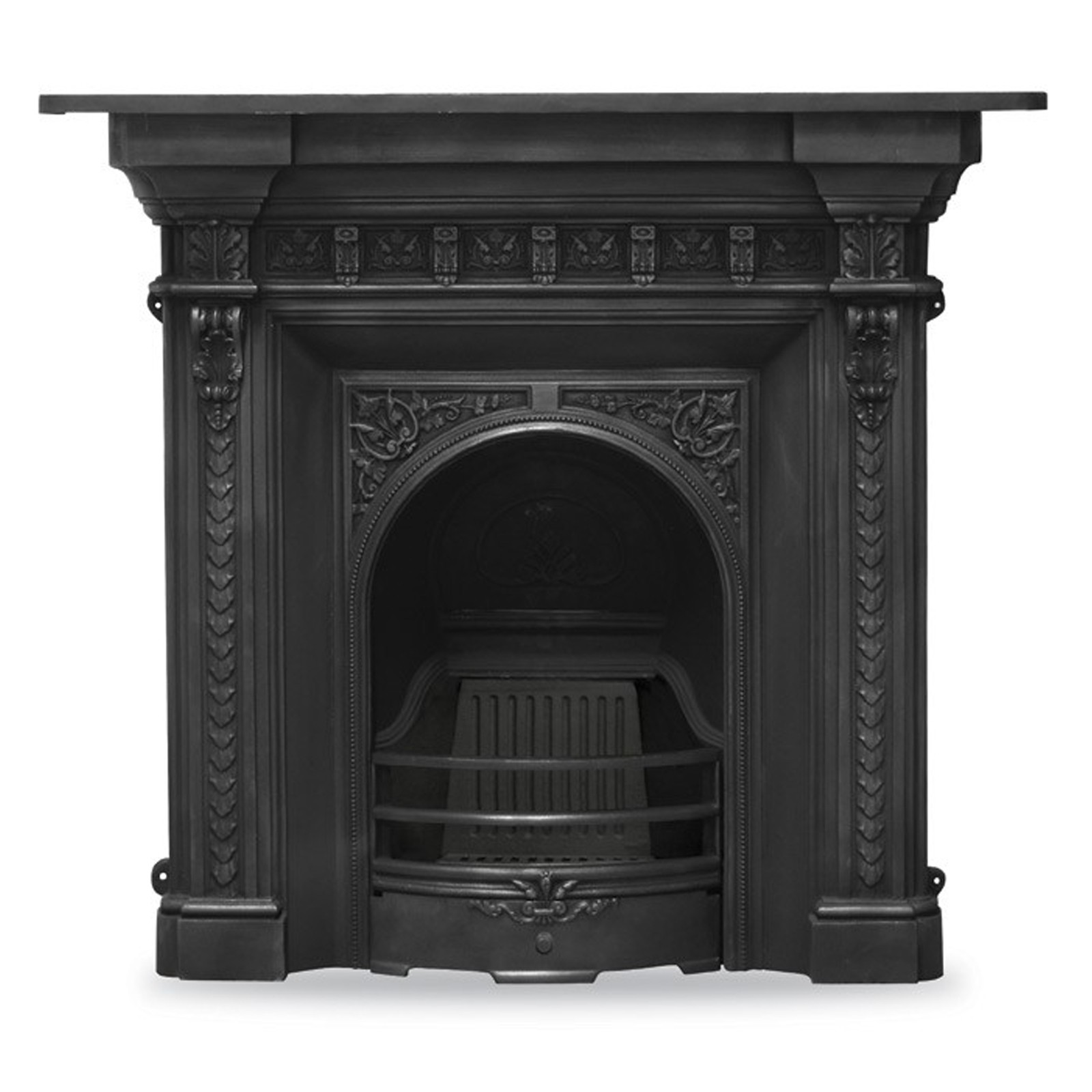 Victorian Style Carron Melrose Combination Cast Iron Fireplace