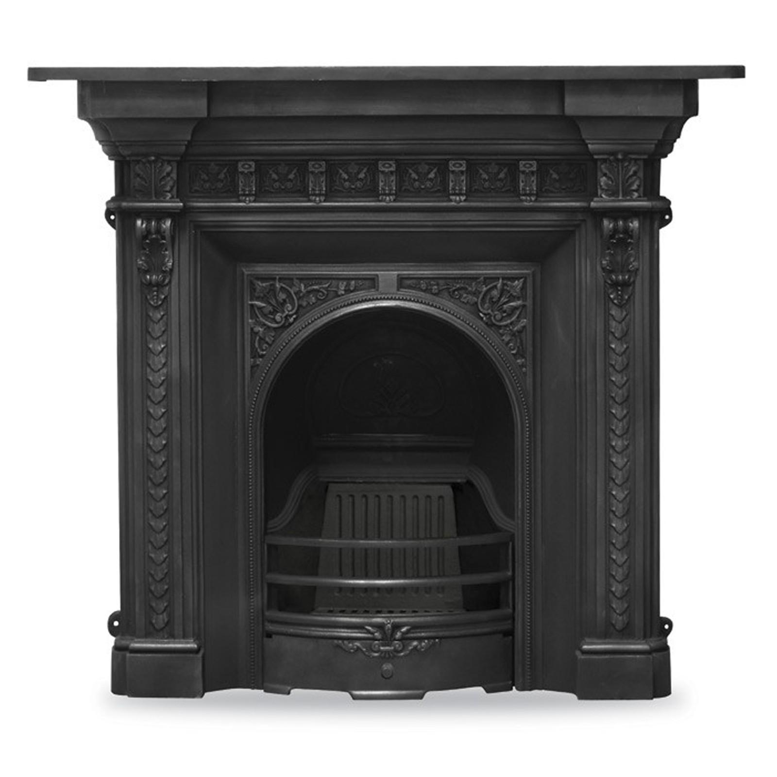 Victorian Fireplace: Carron Melrose Combination Cast Iron