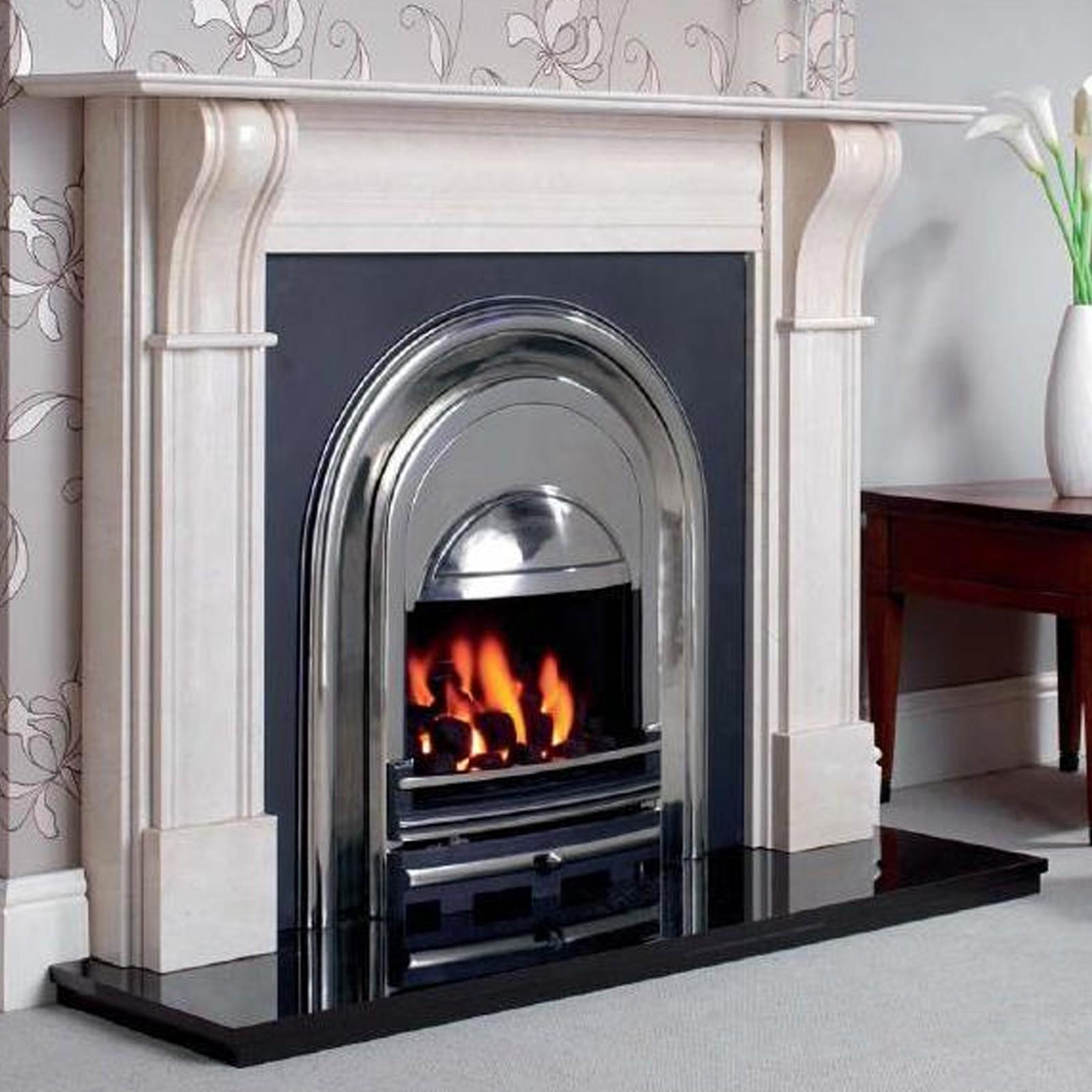 contemporary feel cast tec newcastle fireplace insert massive