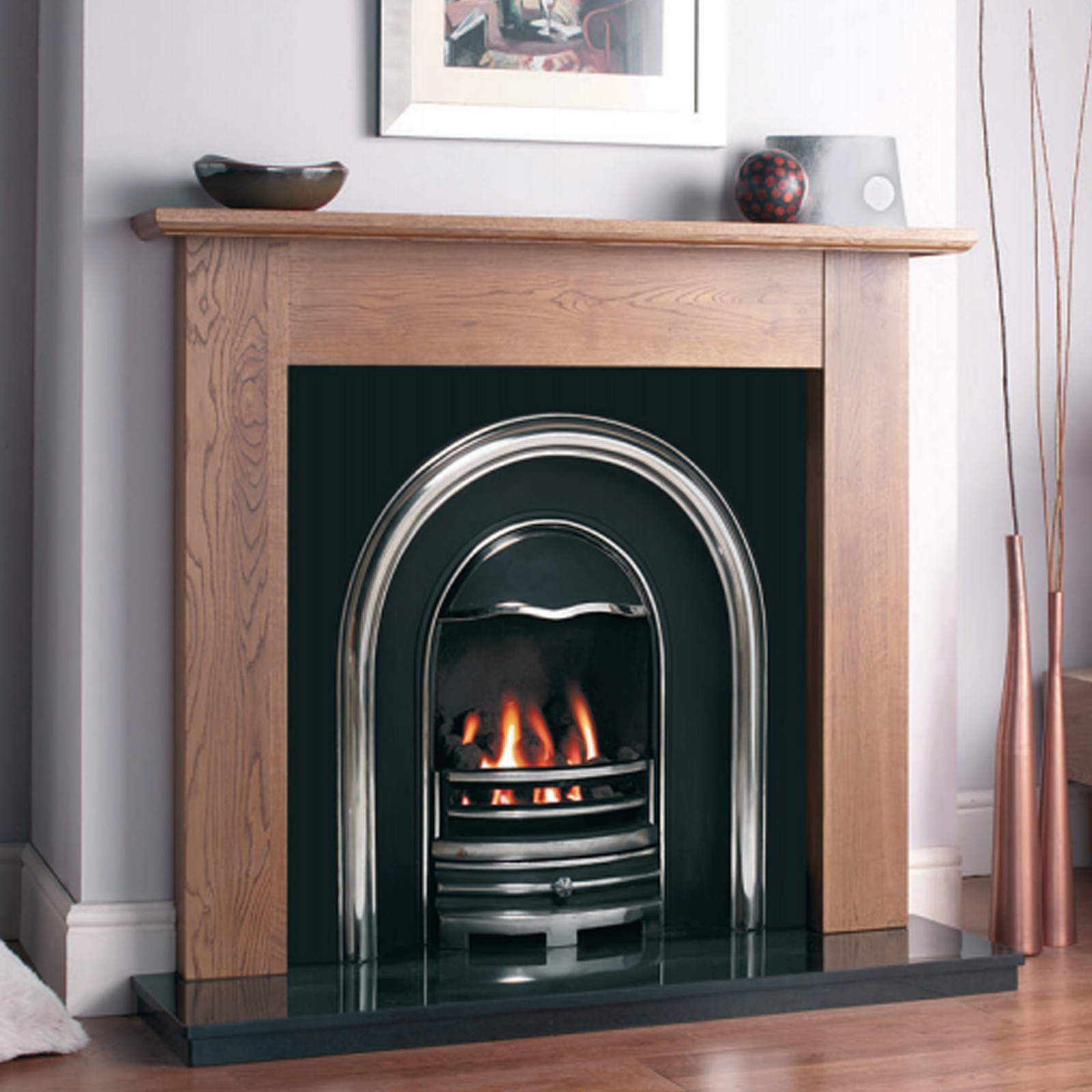 Contemporary Feel Cast Tec Newcastle Fireplace Insert