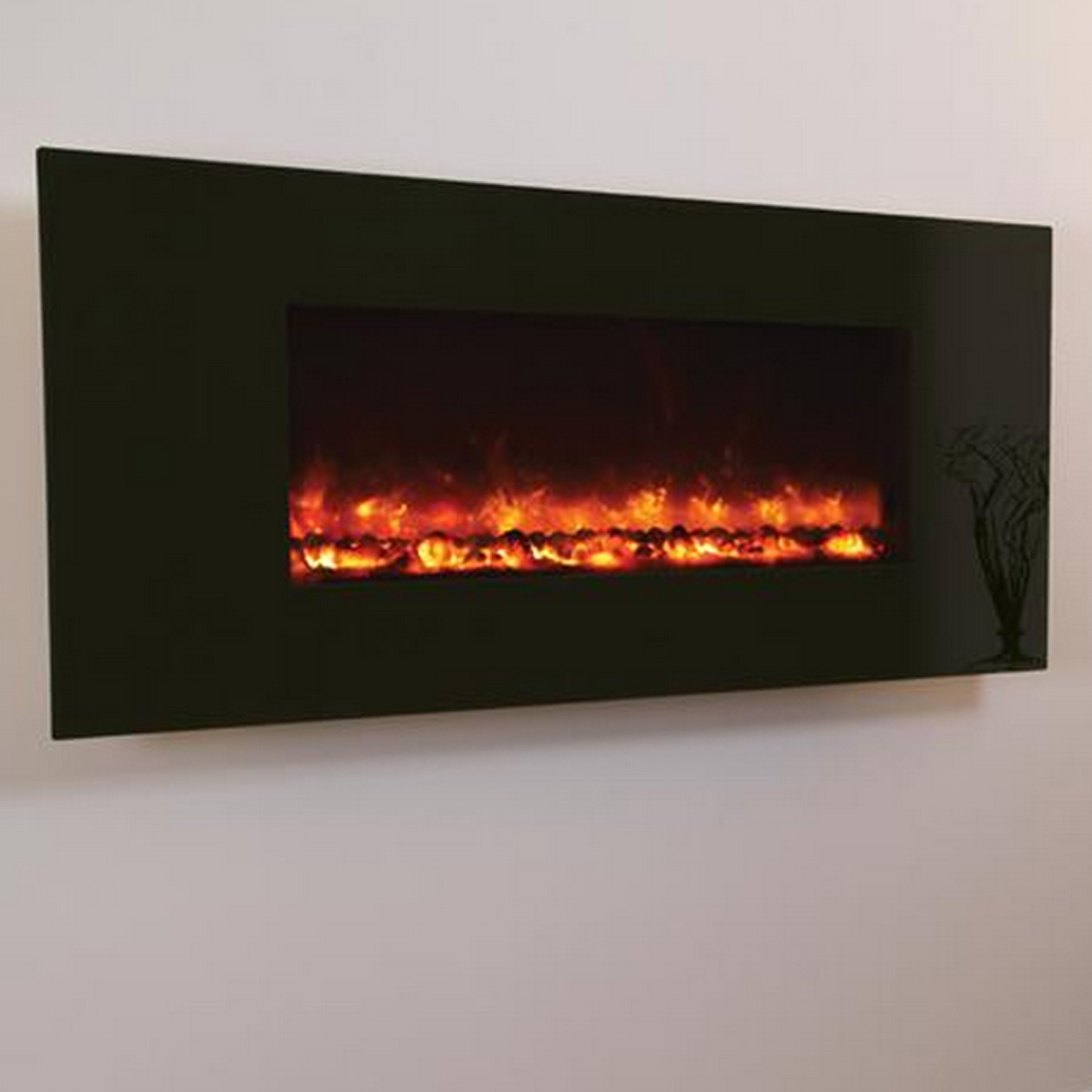 savings celsi electriflame black glass electric