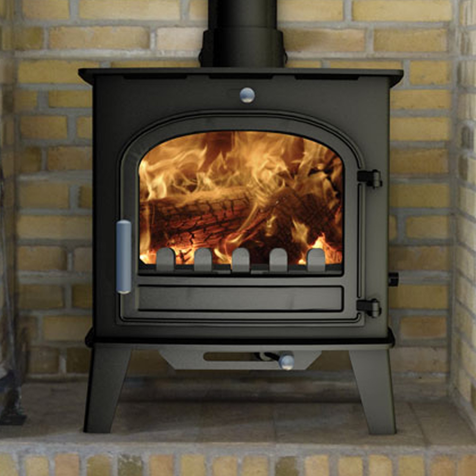 Defra Approved Cleanburn Norreskoven Mk2 Traditional Multifuel Woodburning Stove Fast Free