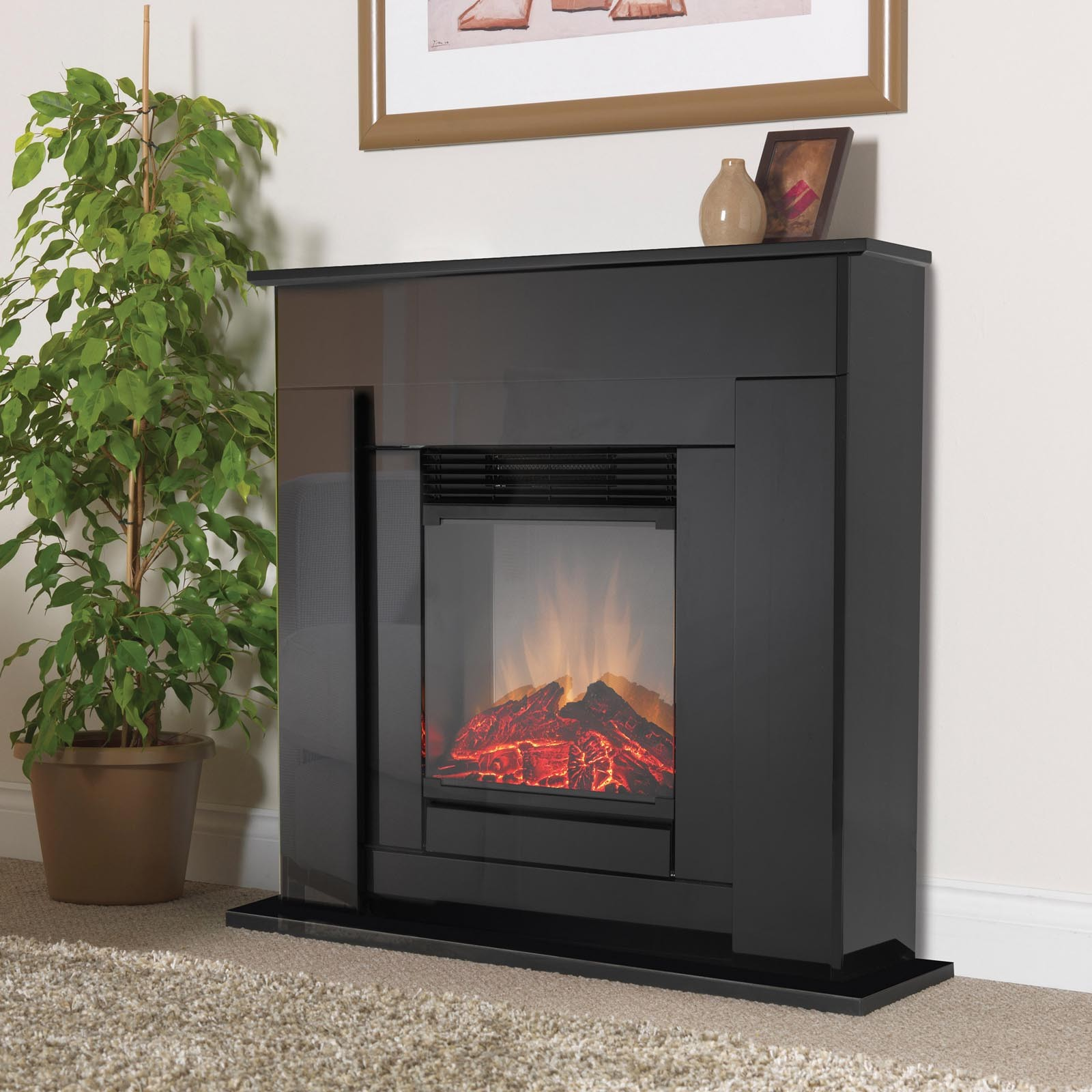 brand new dimplex covelo optiflame electric fireplace suite