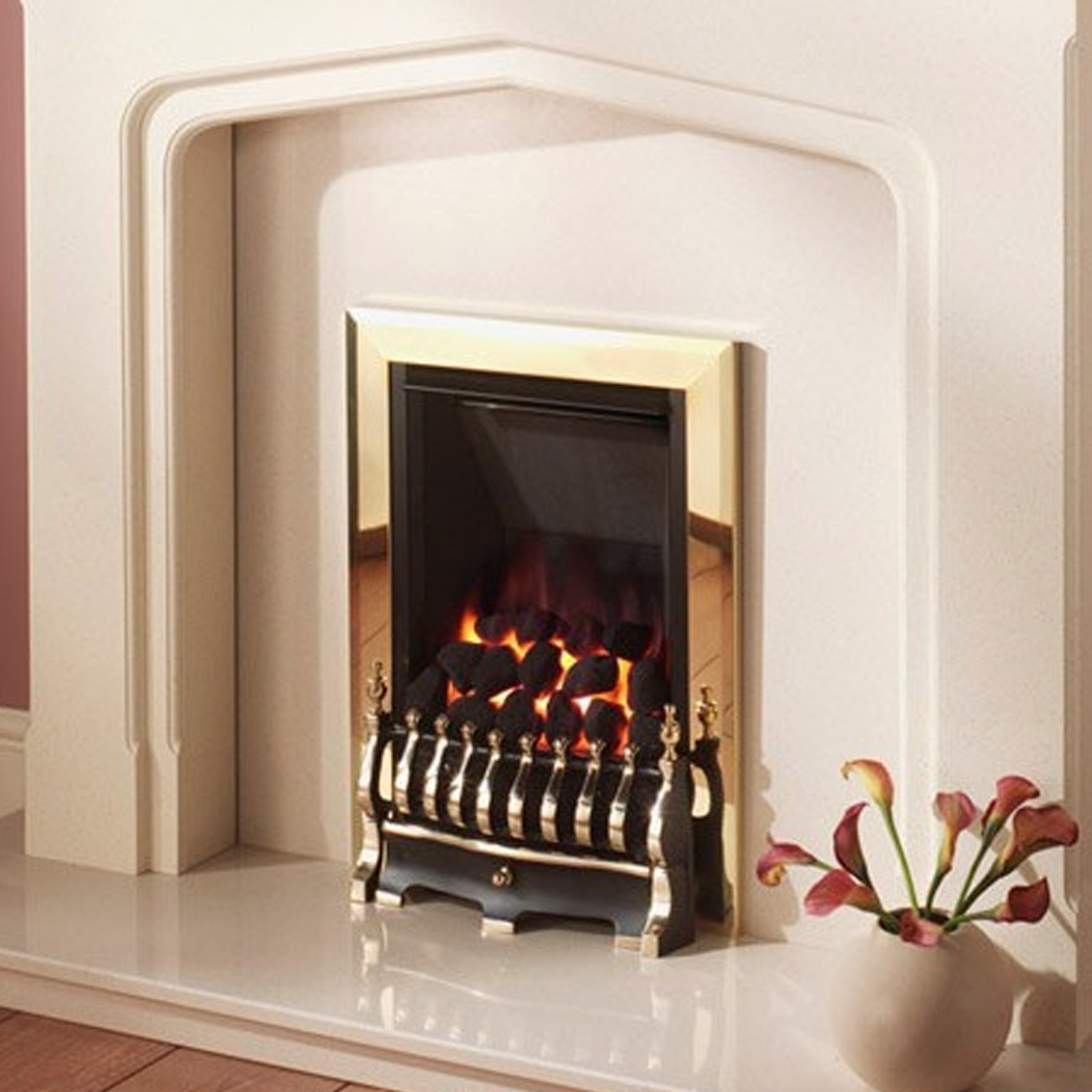 traditional fire crystal fires diamond slimline gas fire cheapest online prices. Black Bedroom Furniture Sets. Home Design Ideas