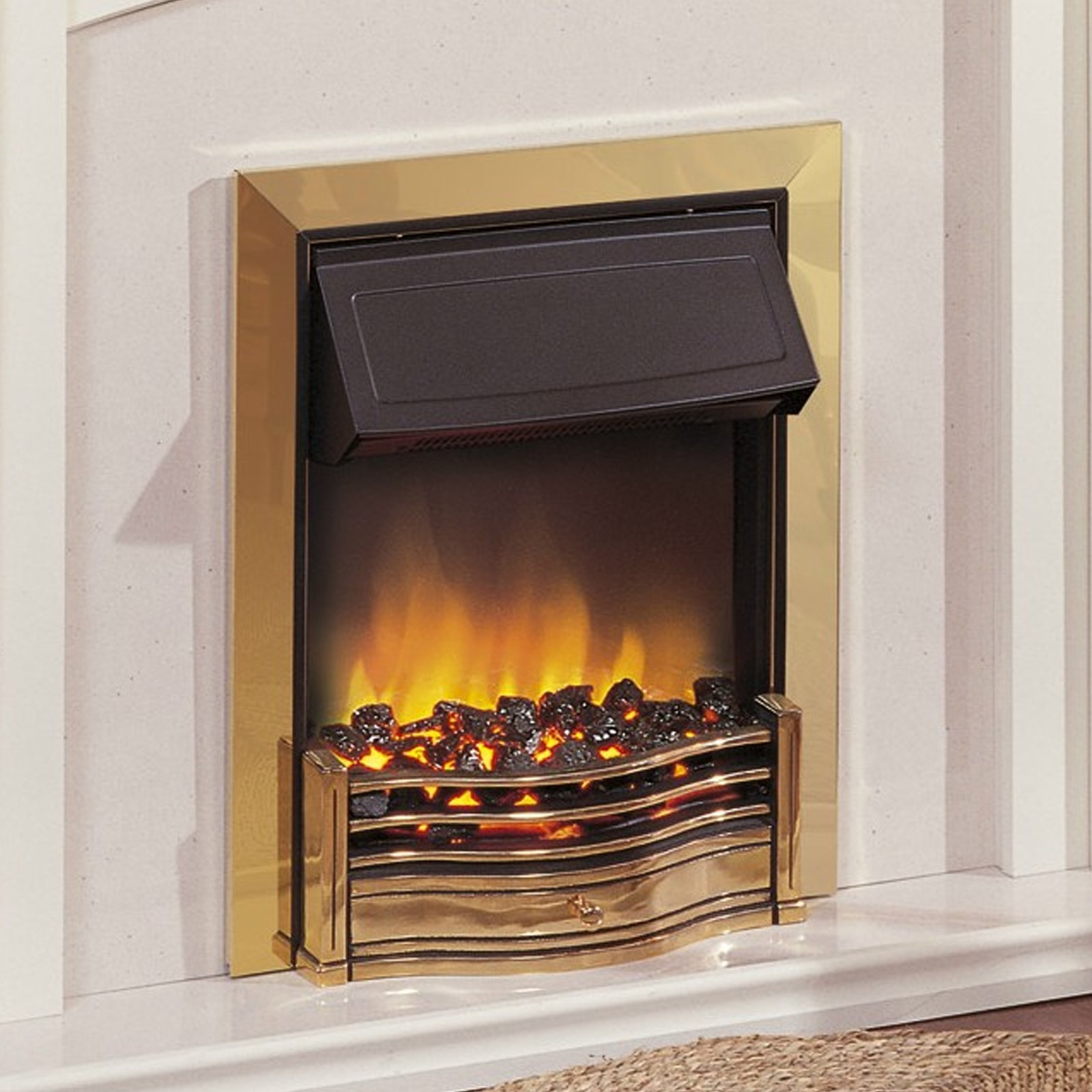 Flame Effect Electric Fires Part - 22: Dimplex Danesbury Brass Optiflame® Electric Fire