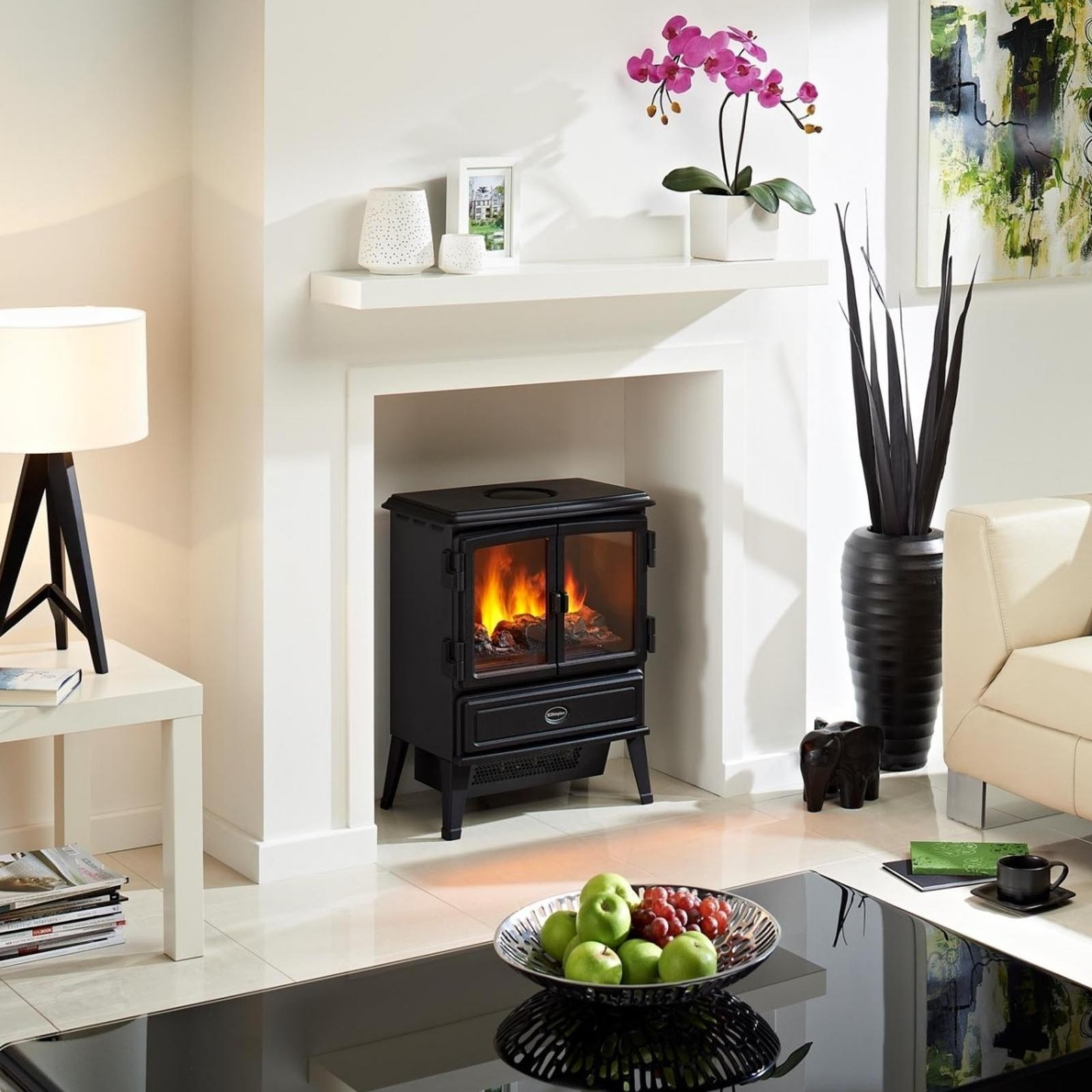 New In Dimplex Oakhurst Black Optiflame Electric Stove