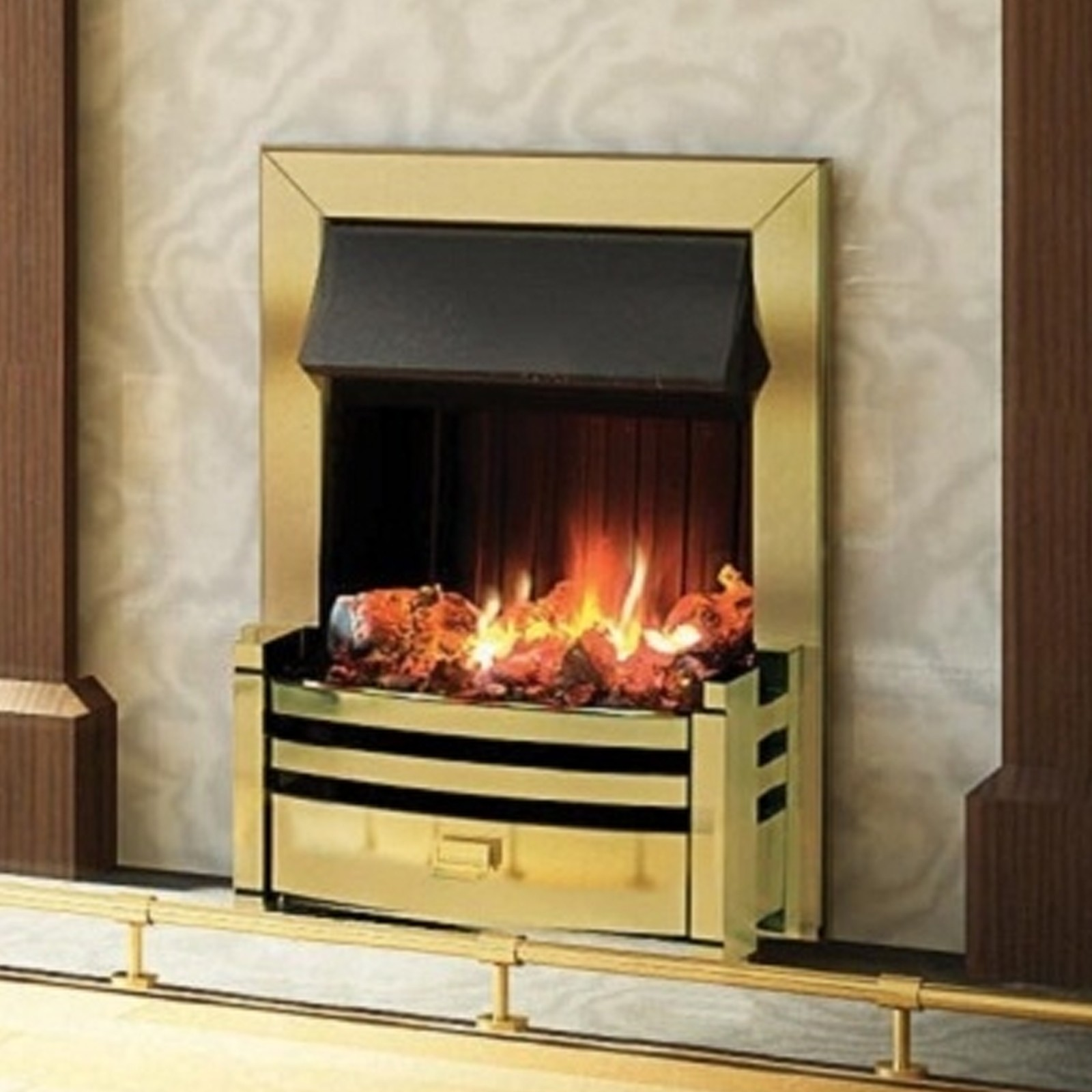 Attractive Eye Catching Dimplex Charlotte Brass Opti
