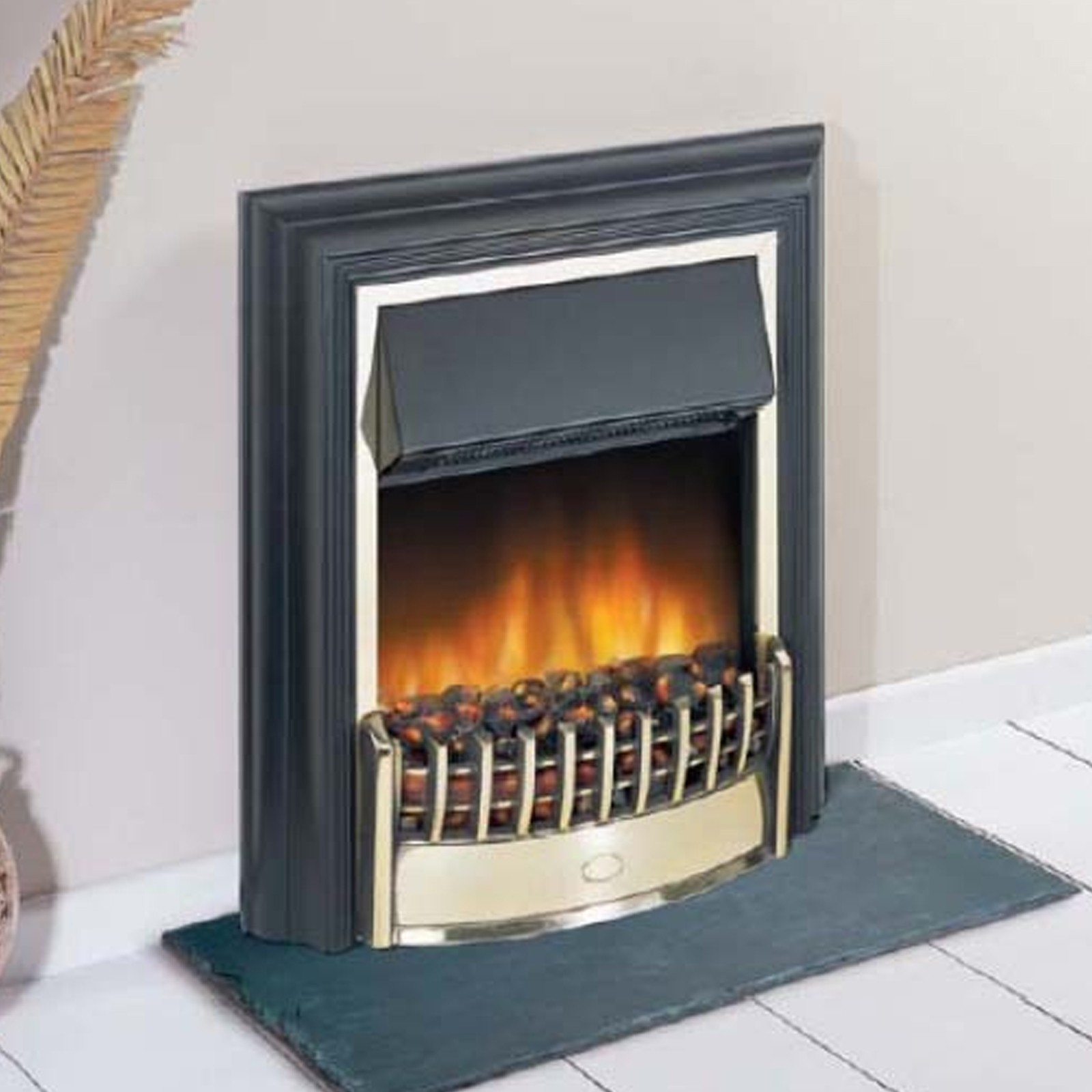 traditional le brass dimplex cheriton optiflame freestanding
