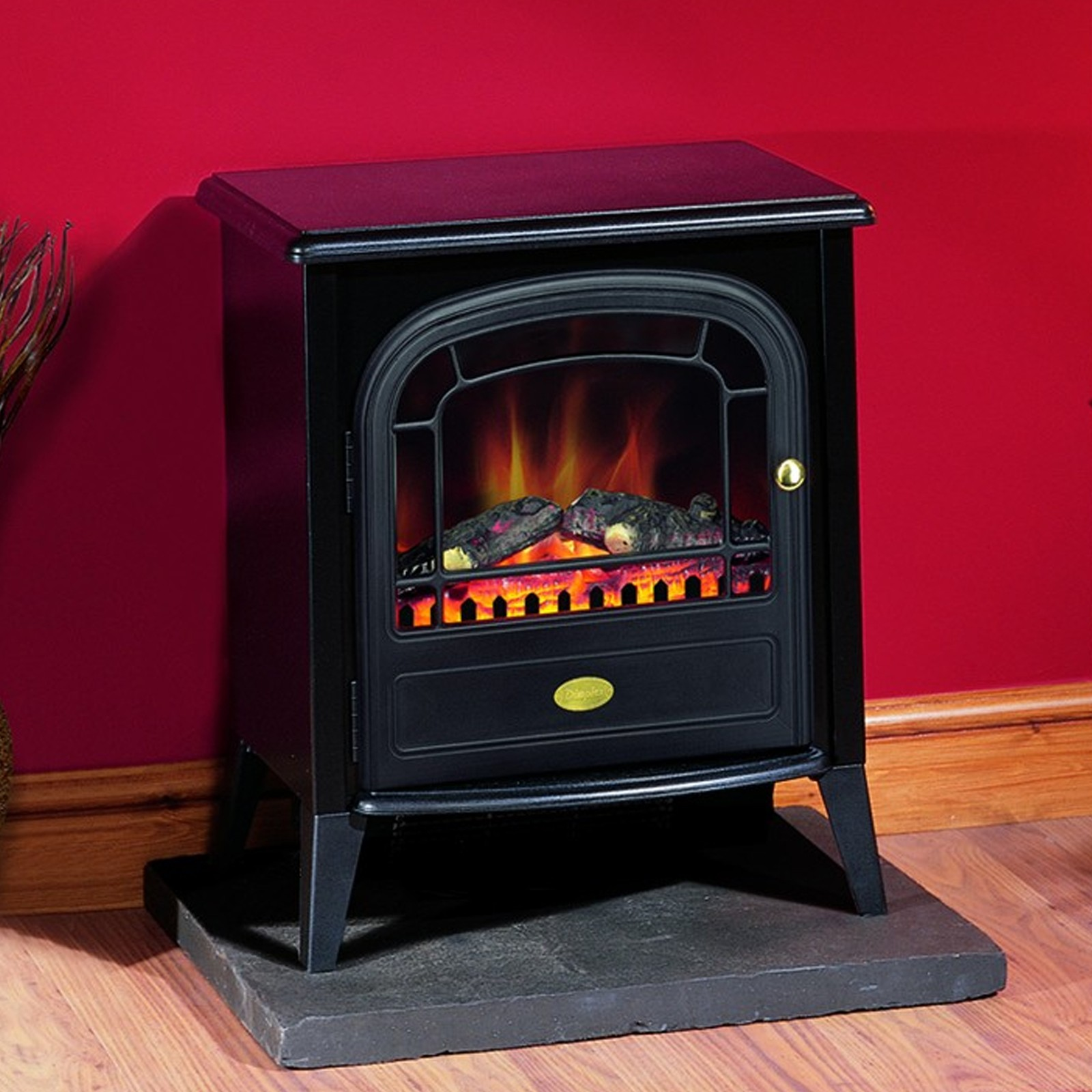 Simple Affordable Dimplex Club Black Optiflame