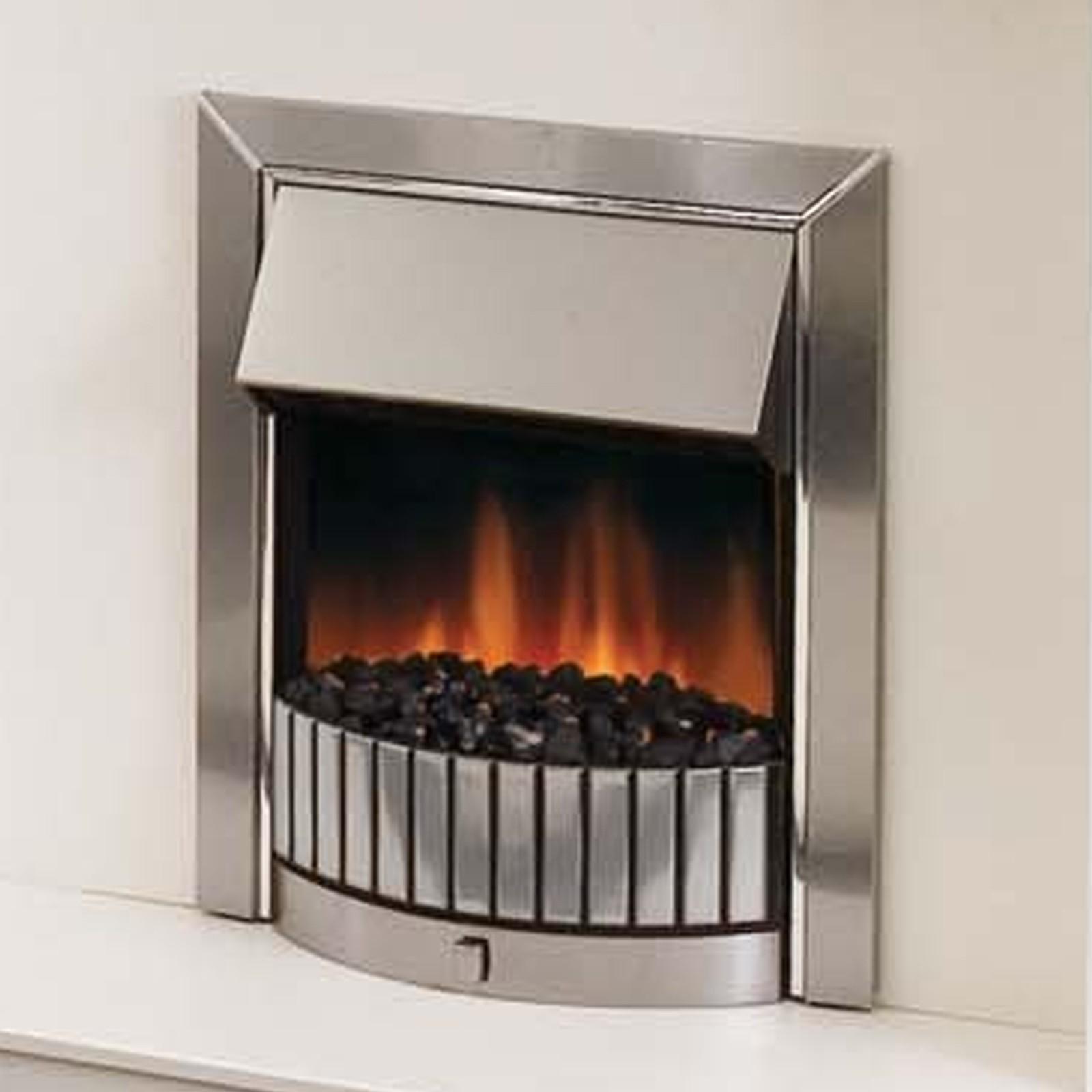 Bargin Beautiful Dimplex Delius Stainless Steel Optiflame Electric Fire