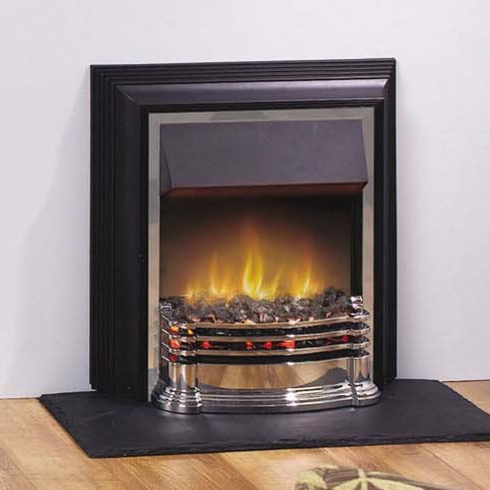 Contemporary Free Standing Electric Fires: Dimplex Detroit Optiflame Freestanding Electric