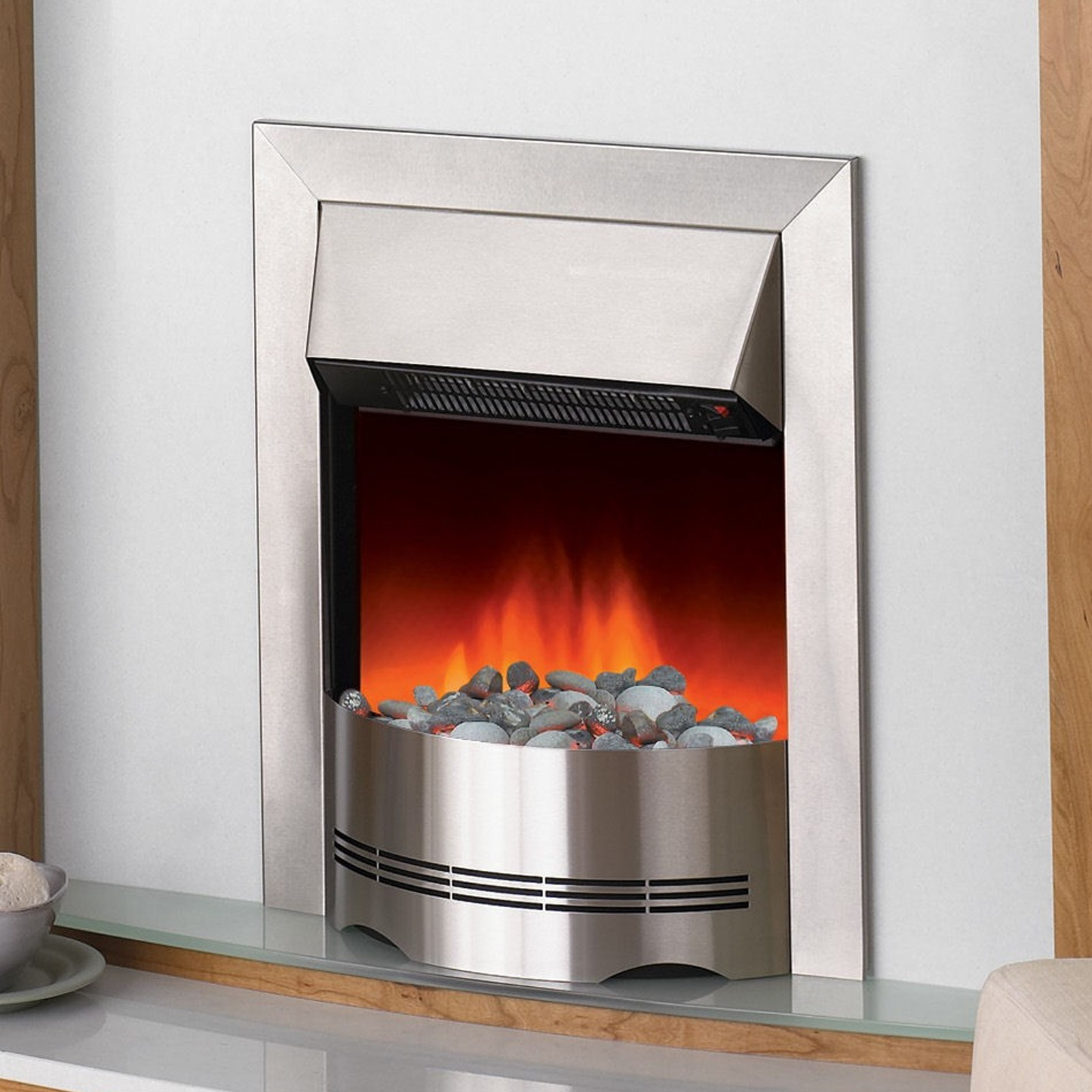 Unique Dimplex Elda Stainless Steel Electric Fire