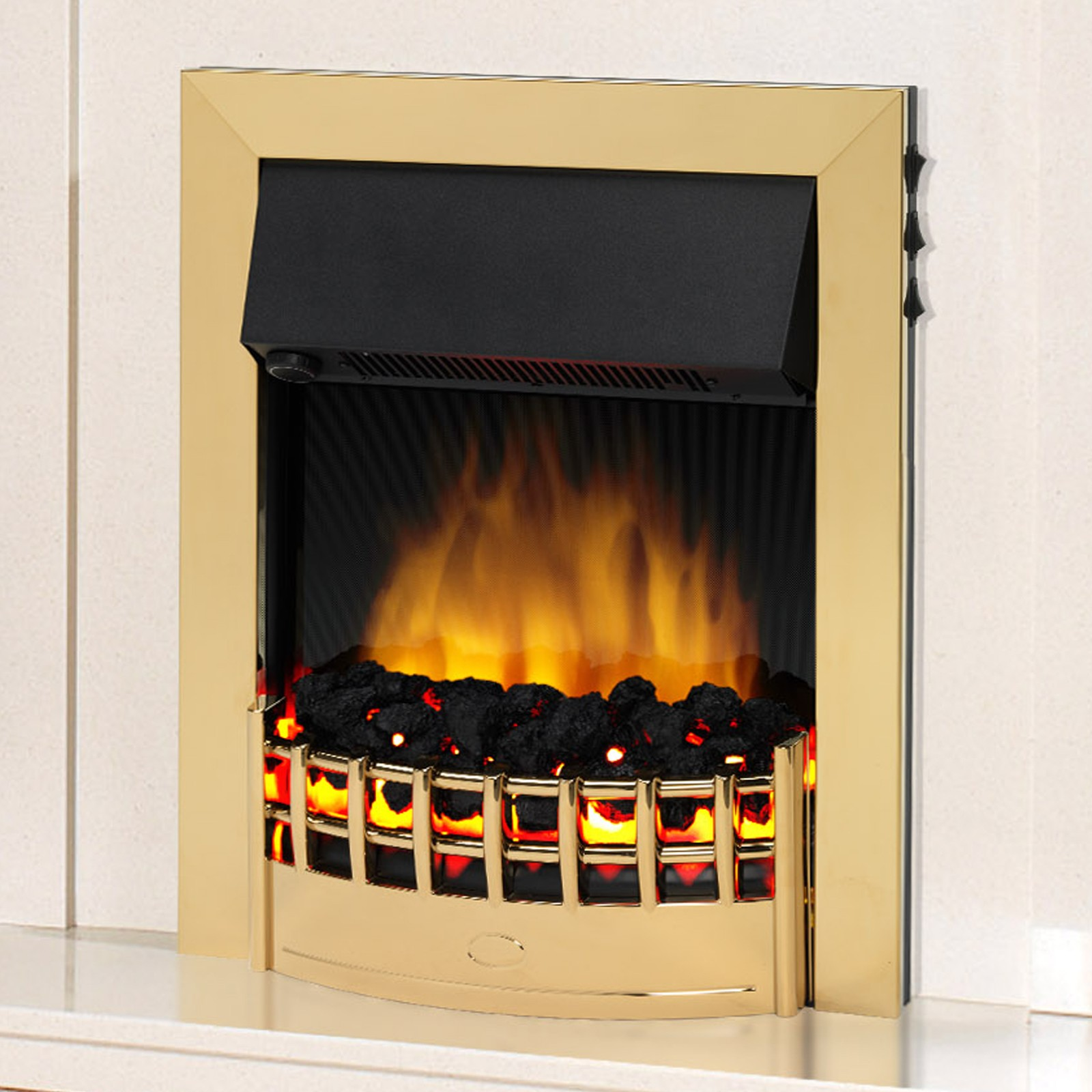 Stunning Design Dimplex Wesley Brass Optiflame Led