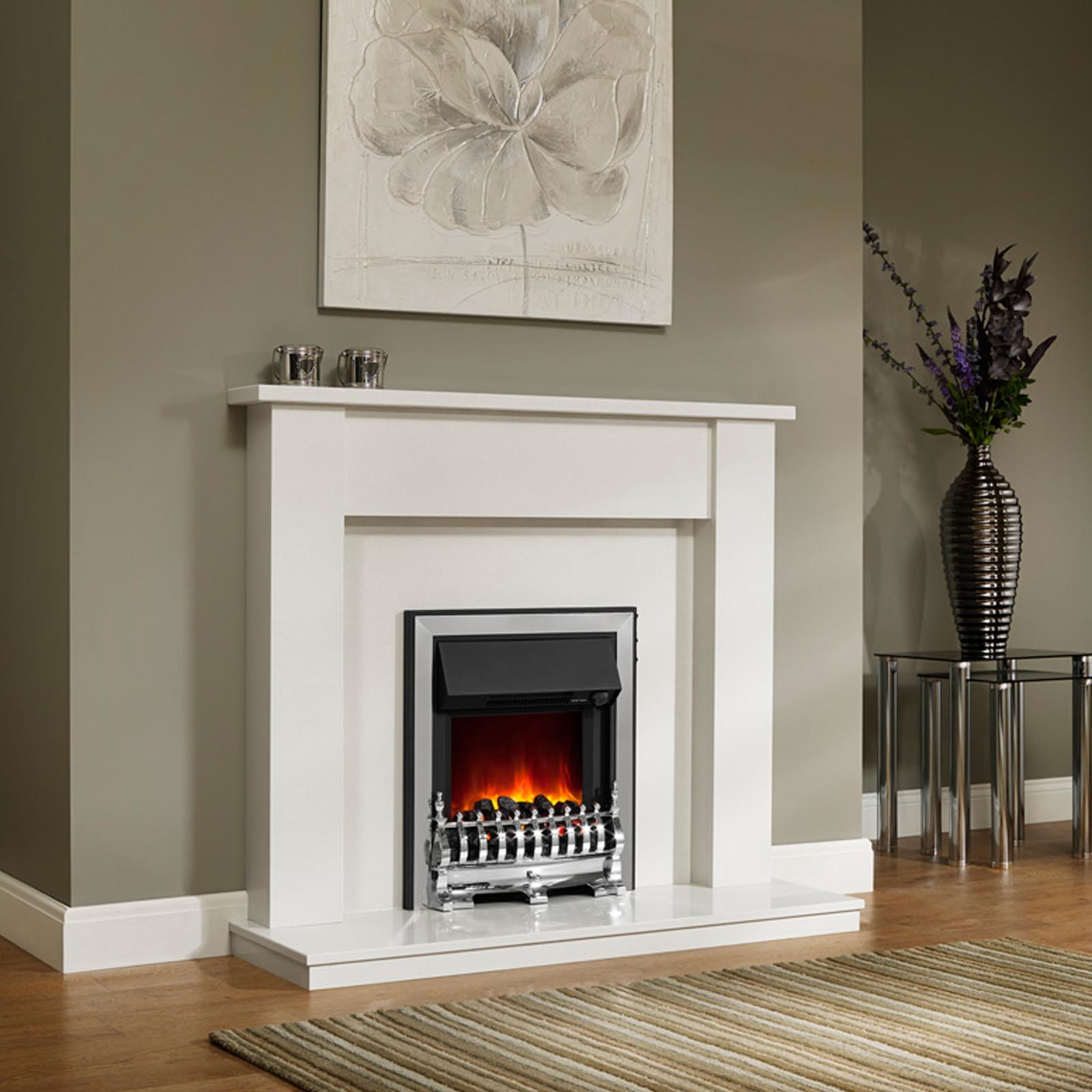 simple style be modern elda 48 quot fireplace surround