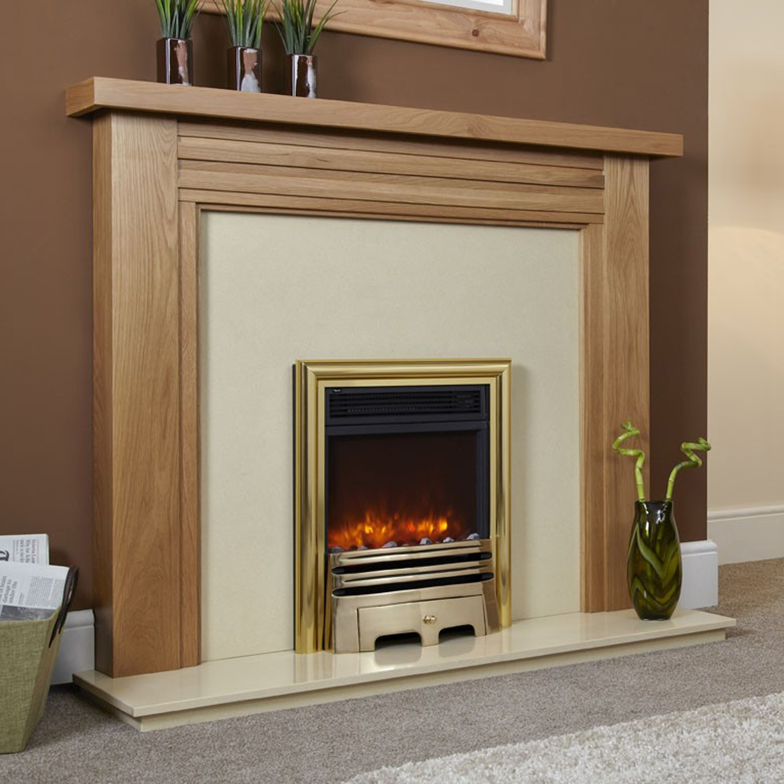 Fireplace electric with flame effect 3d