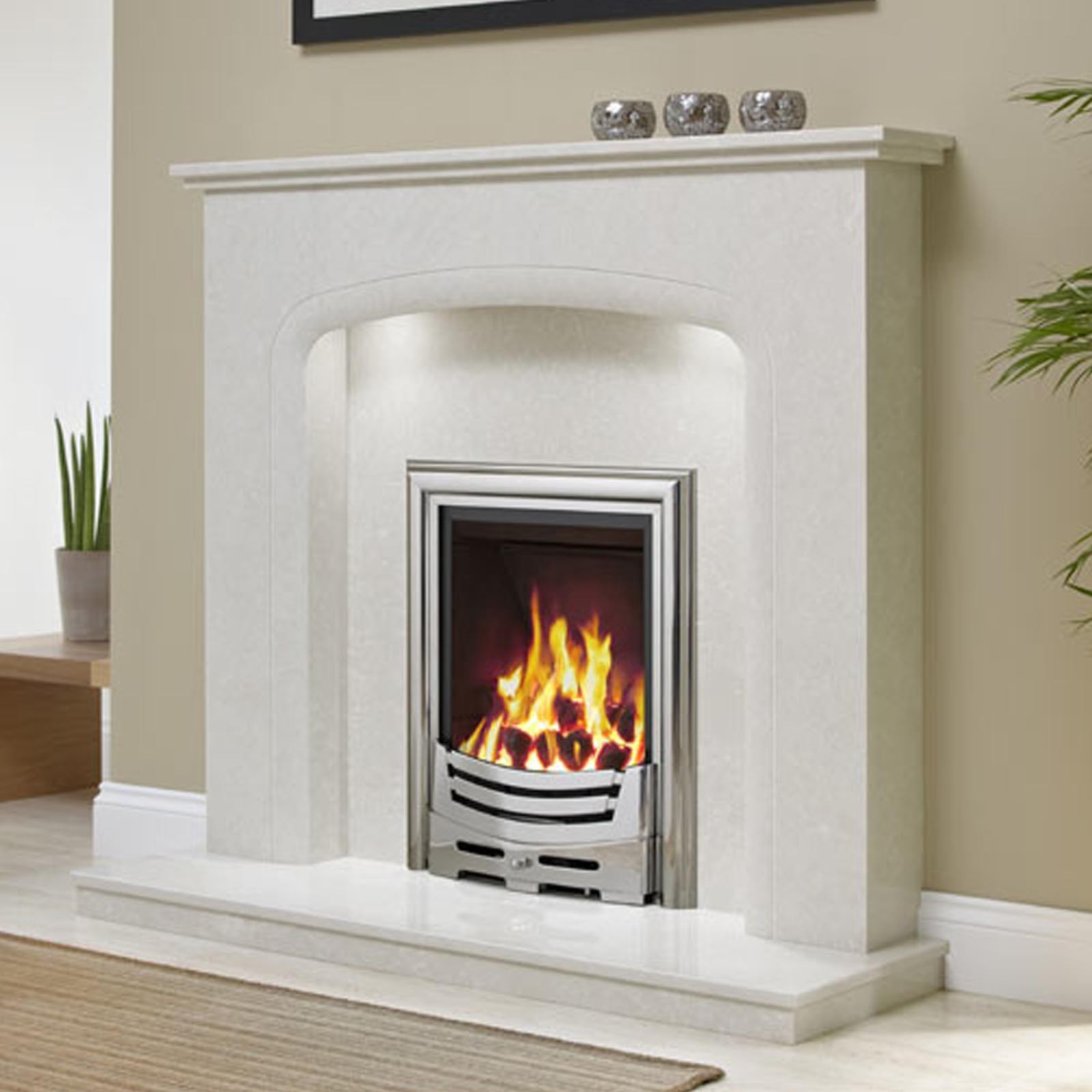 Sale now on elgin hall viena 48 micro marble surround for Fireplace surrounds for gas fires