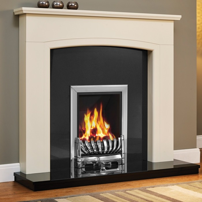 Be Modern Ellonby 50 Soft White Fireplace Suite Free Delivery