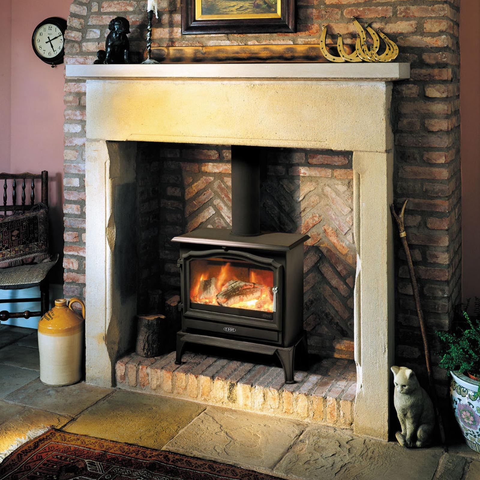 Free delivery esse 100 se multifuel woodburning stove for Isokern fireplace cost
