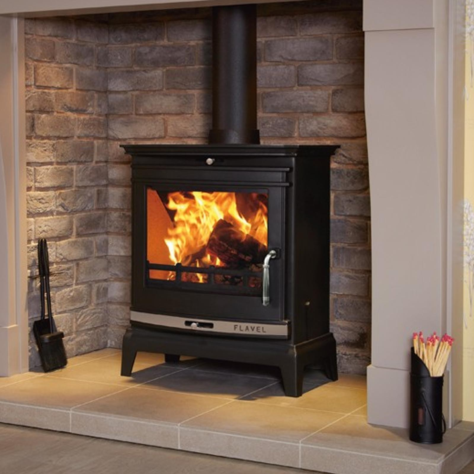 Next Day Delivery Flavel Rochester Multifuel Stove Great Value