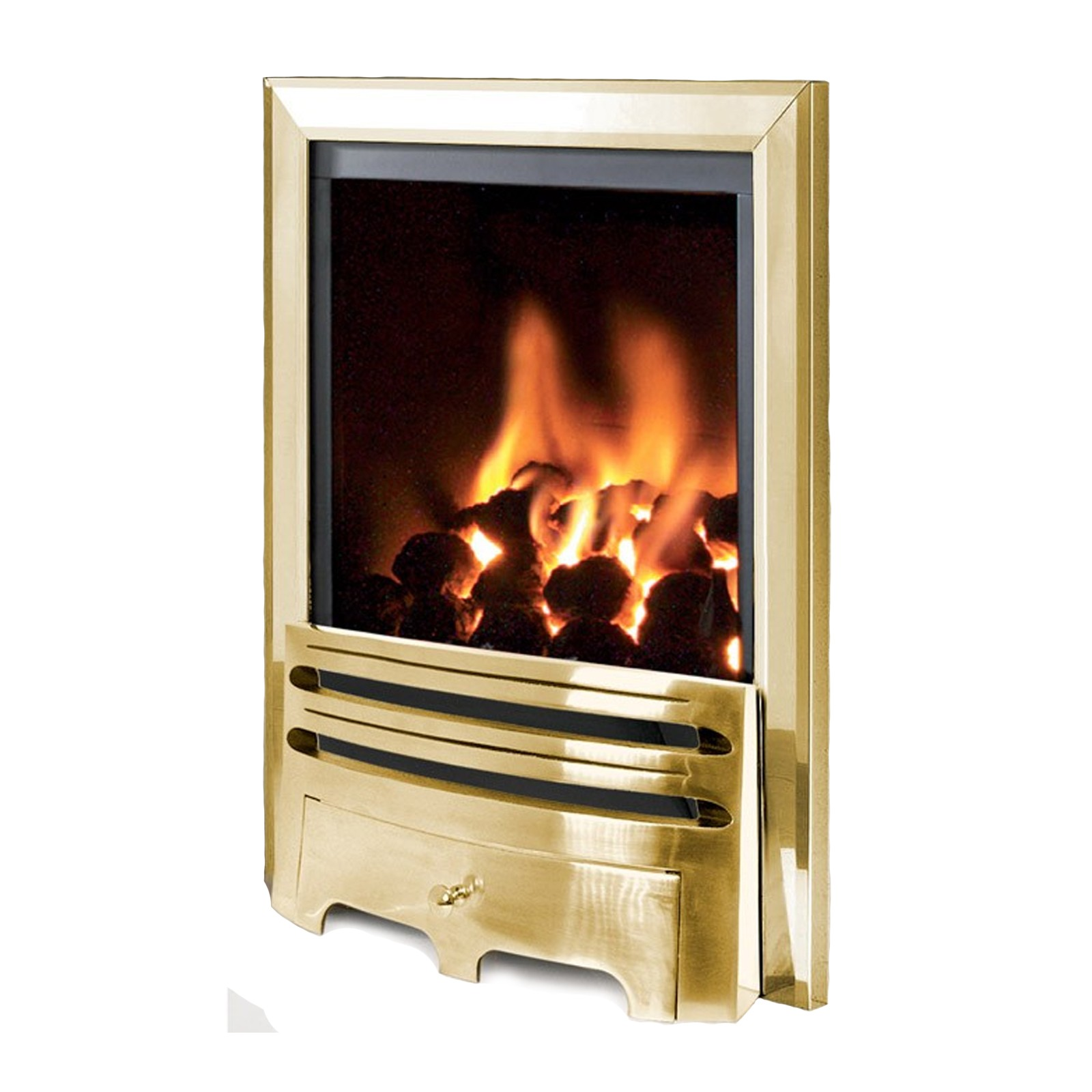 Modern design flavel kenilworth contemporary brass gas for Modern gas fireplace price
