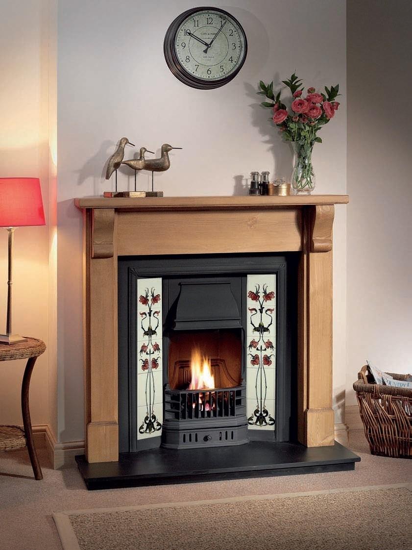 Gallery Bedford Oak Wood Fireplace Surround Fire