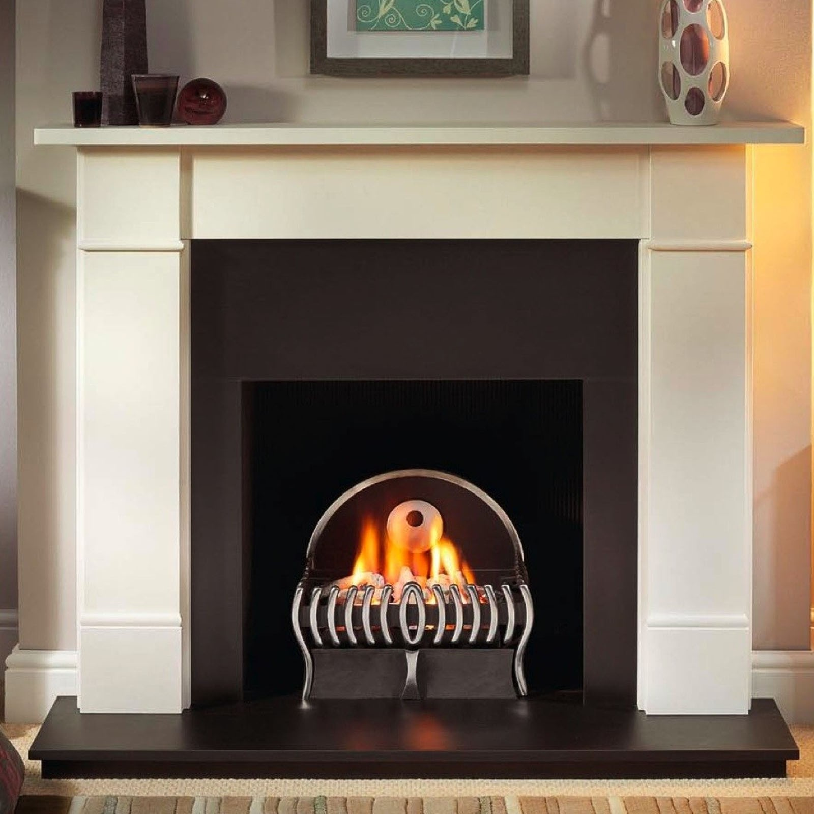 fireplace classic flame in cherry insert lexington electric mantel empire
