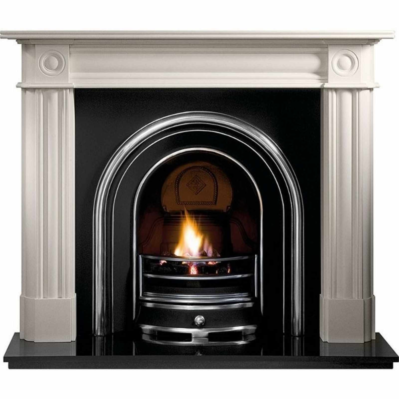 Fantastic Deals Gallery Chiswick Stone Fireplace With Jubilee Cast Iron Arch Stunning Design