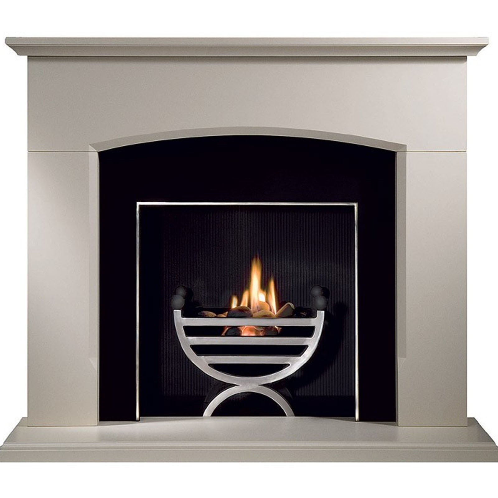 Modern Style | Gallery Dacre Stone Fireplace & Optional ...