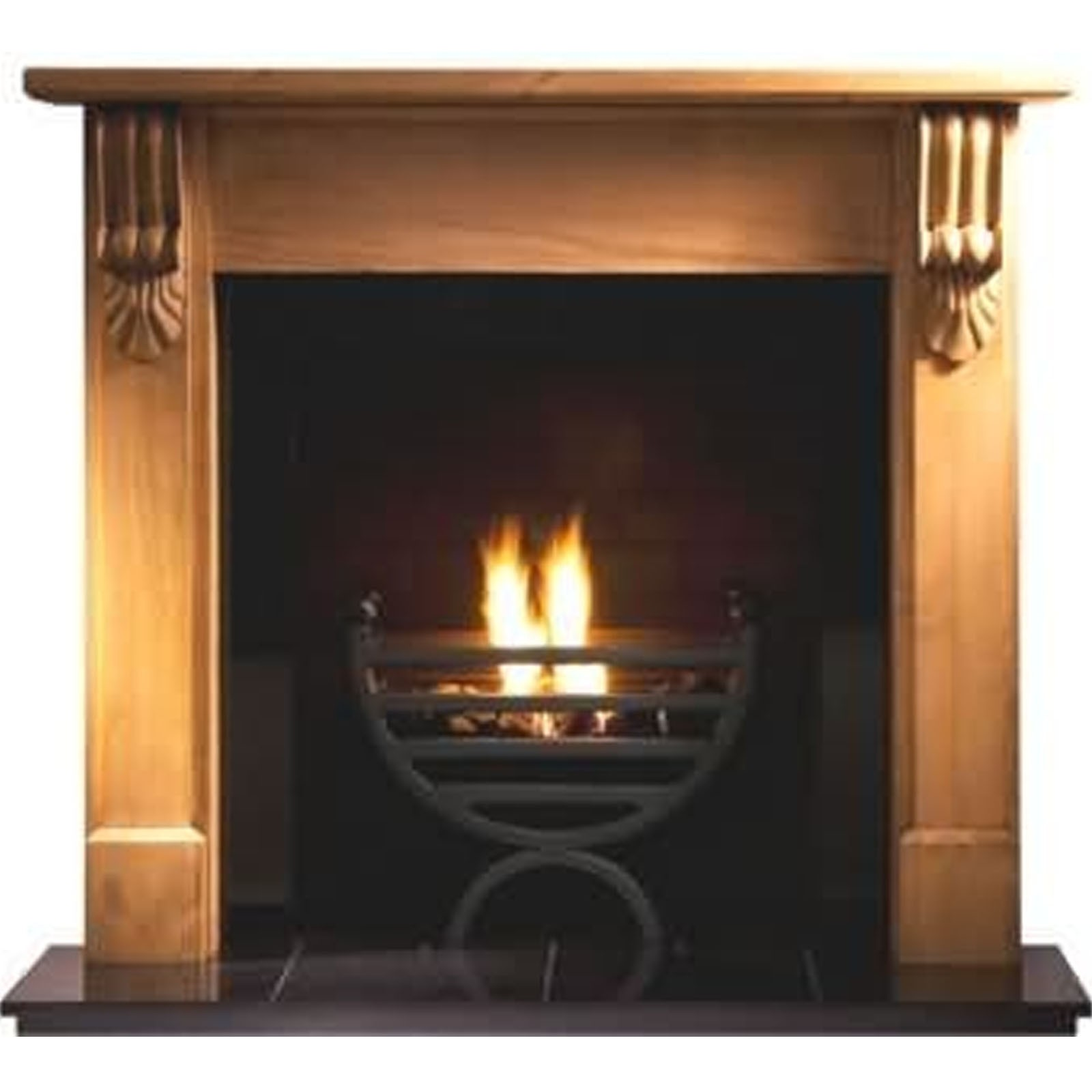 fast delivery gallery grand corbel pine fireplace includes