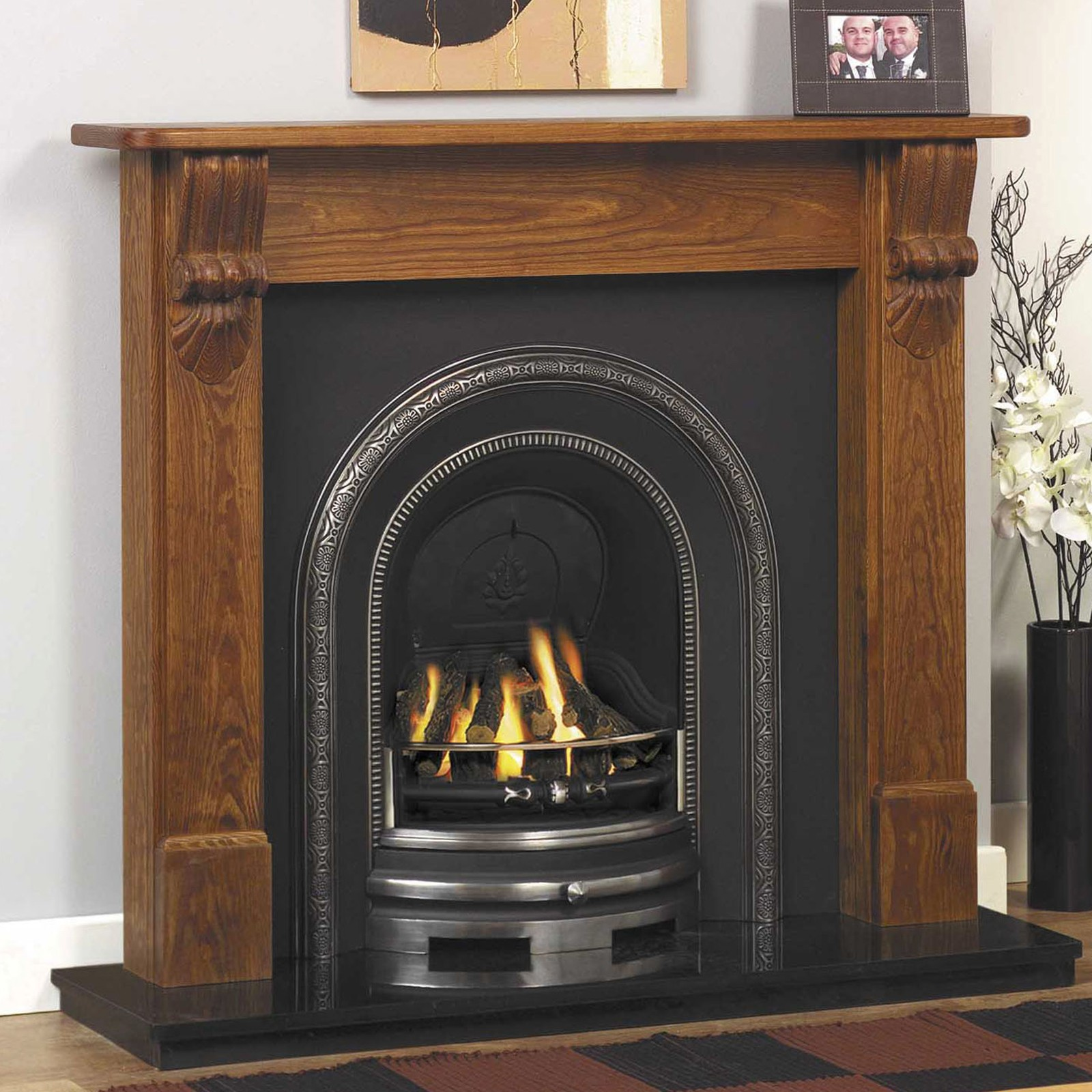 Top quality products gb mantels cheshire fireplace suite for Cheap wooden fireplace surrounds