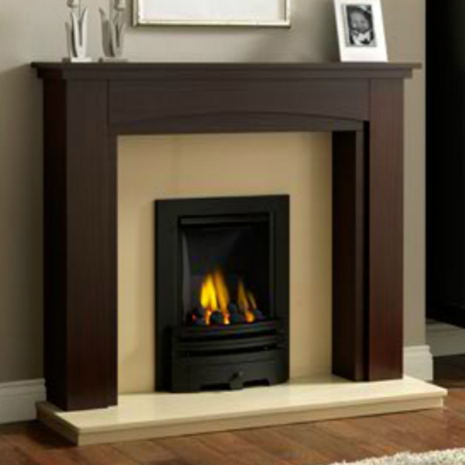 Brown Fireplace Mantel : Best prices gb mantels tiverton fireplace suite super